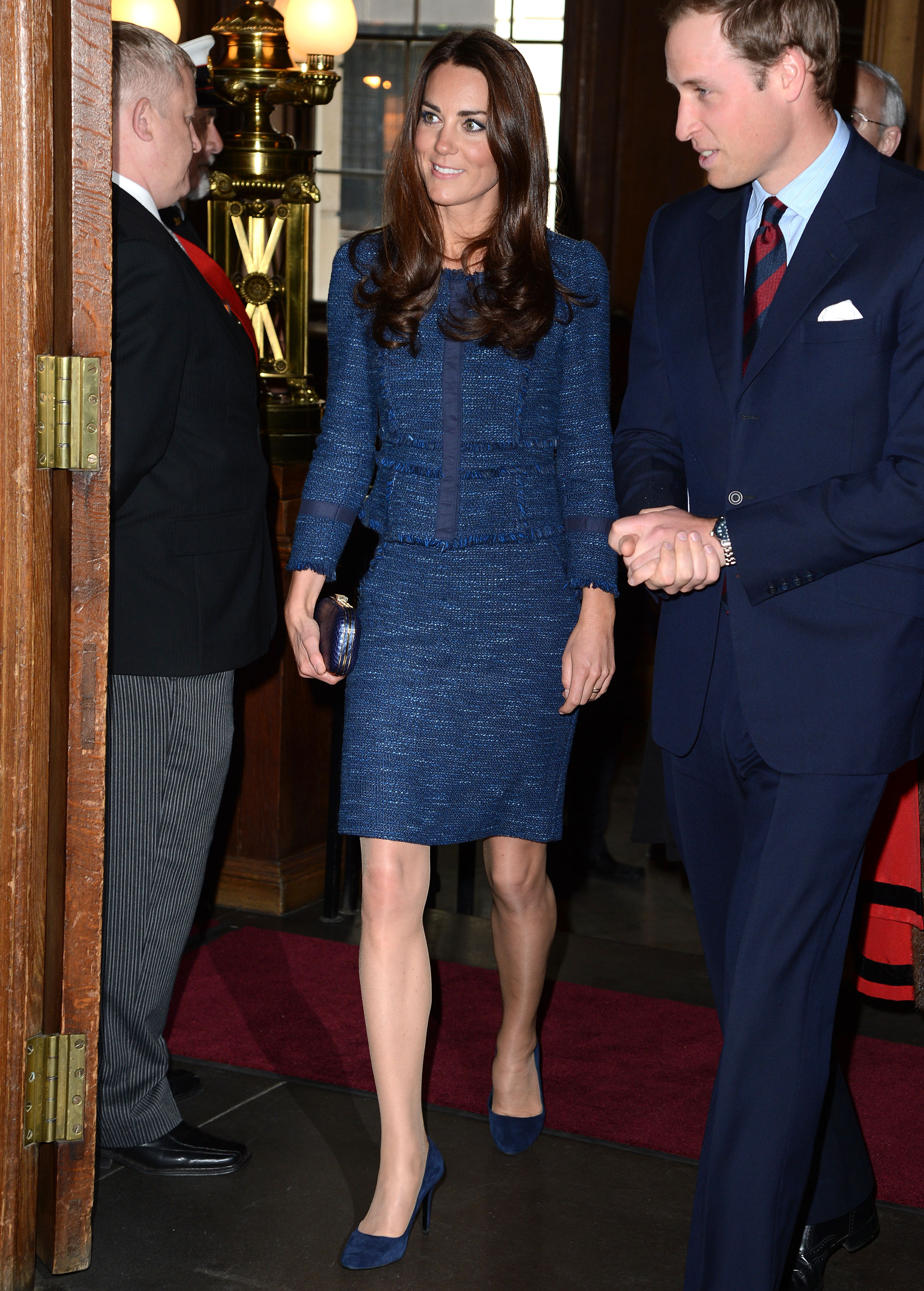 <strong>Royal Blue</strong>                                   Middleton chose a Rebecca Taylor suit for a April 26, 2012 appearance at London's Goldsmiths Hall.