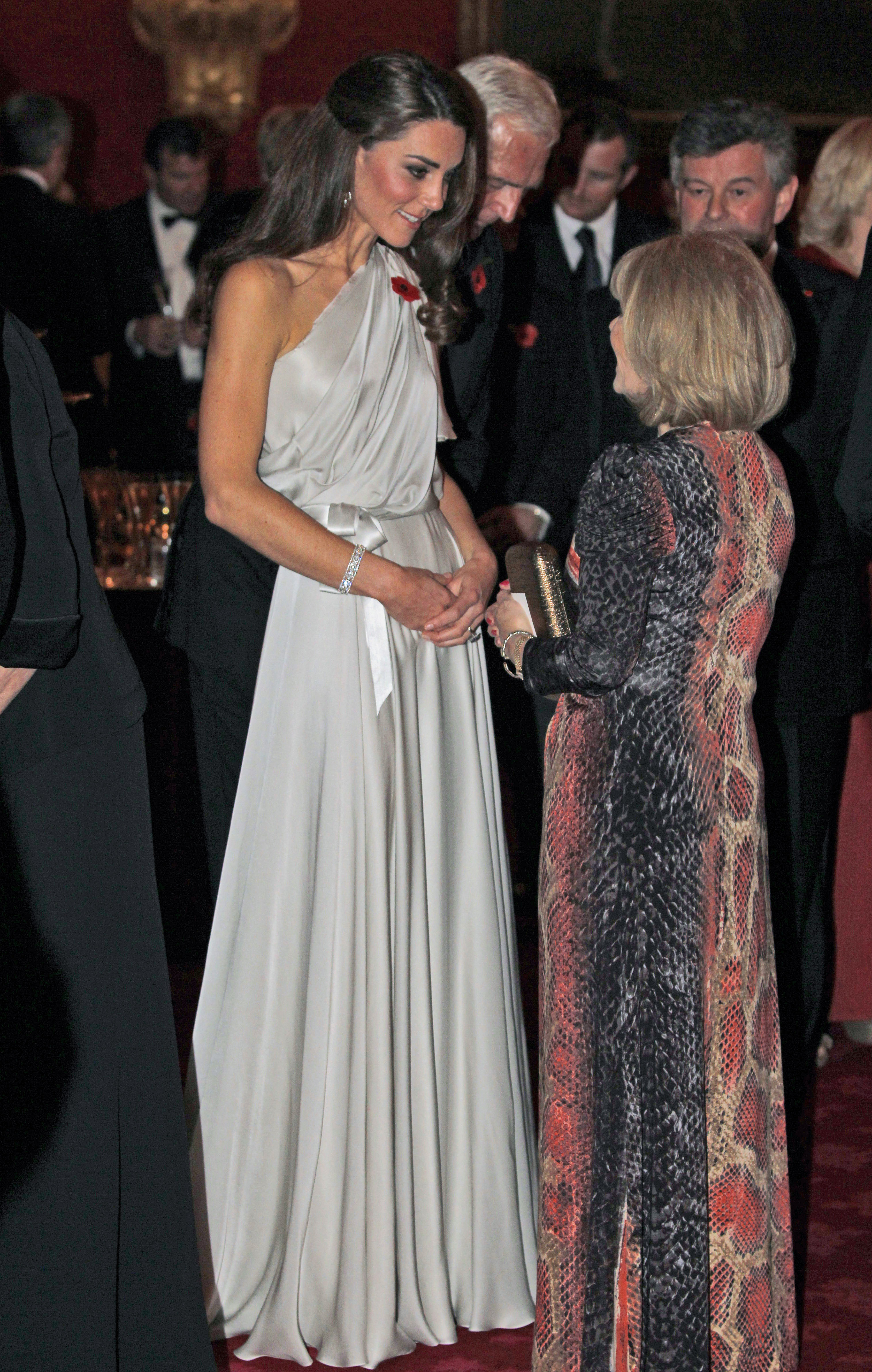 <strong>Remembrance Day</strong>                                   Middleton mingles at a reception for the National Memorial Arboretum Appeal at St. James's Palace in London on Nov. 10, 2011.