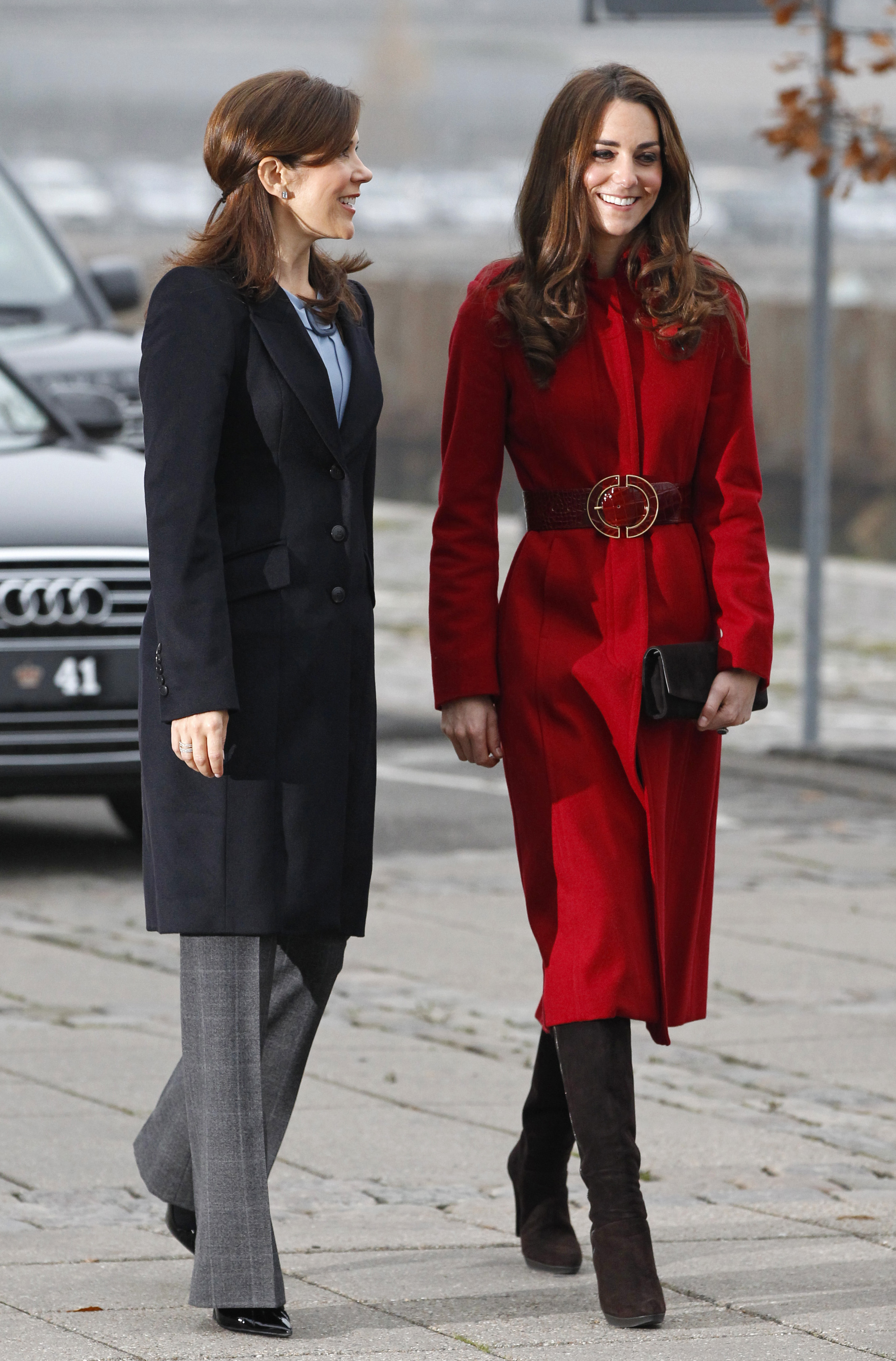 <strong>The Princess and the Duchess</strong>                                   Middleton arrives at a UNICEF emergency-supply center alongside Crown Princess Mary of Denmark in Copenhagen on Nov. 2, 2011.