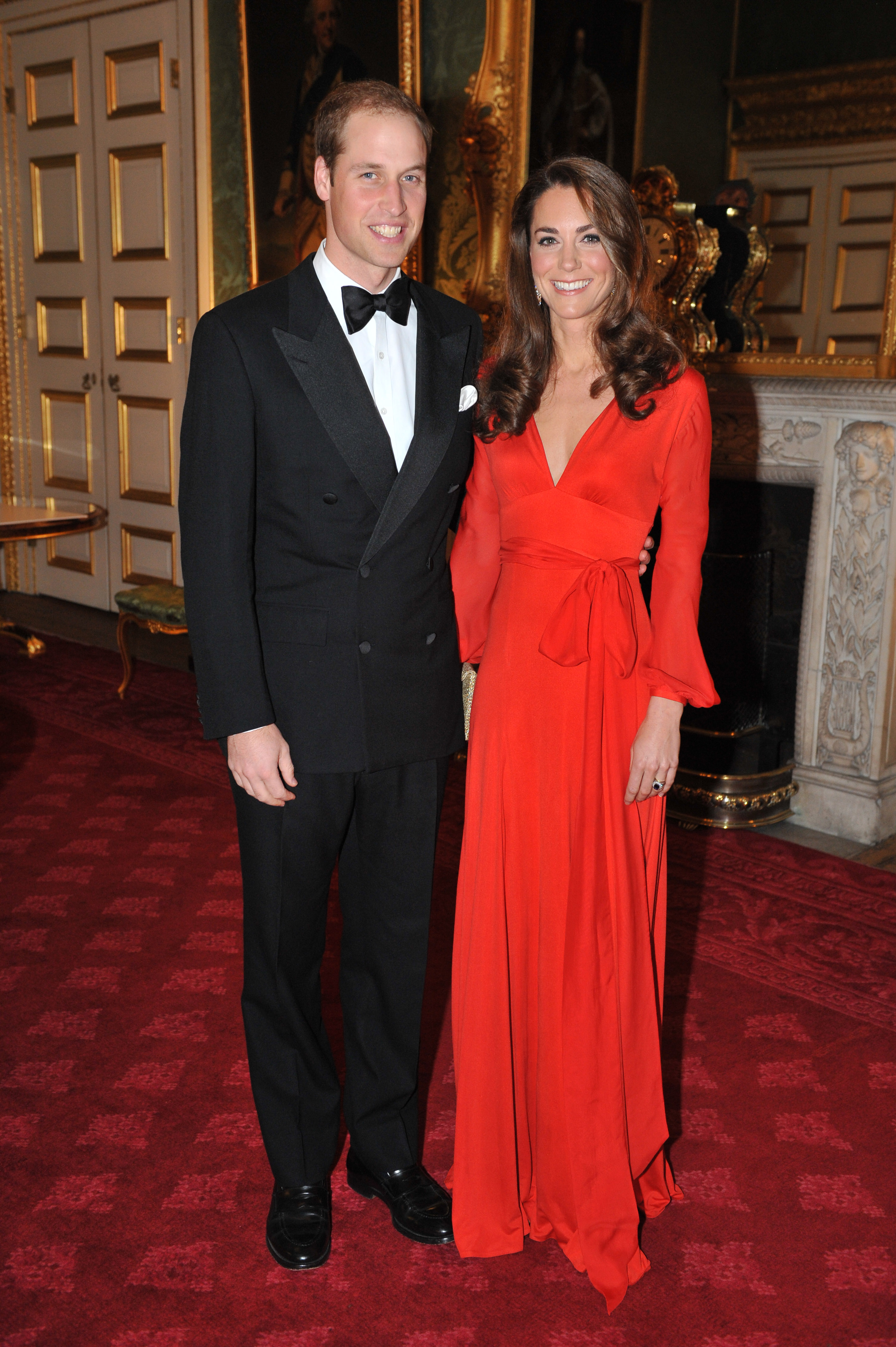 <strong>Royal Red</strong>                                   The Duchess attended a gala for the Child Bereavement Charity in London on Oct. 13, 2011, wearing a crimson Beulah London gown. The dress wraps at the waist, which has become a hallmark of Middleton's most-talked-about outfits, including the blue Issa dress she wore to announce her engagement.