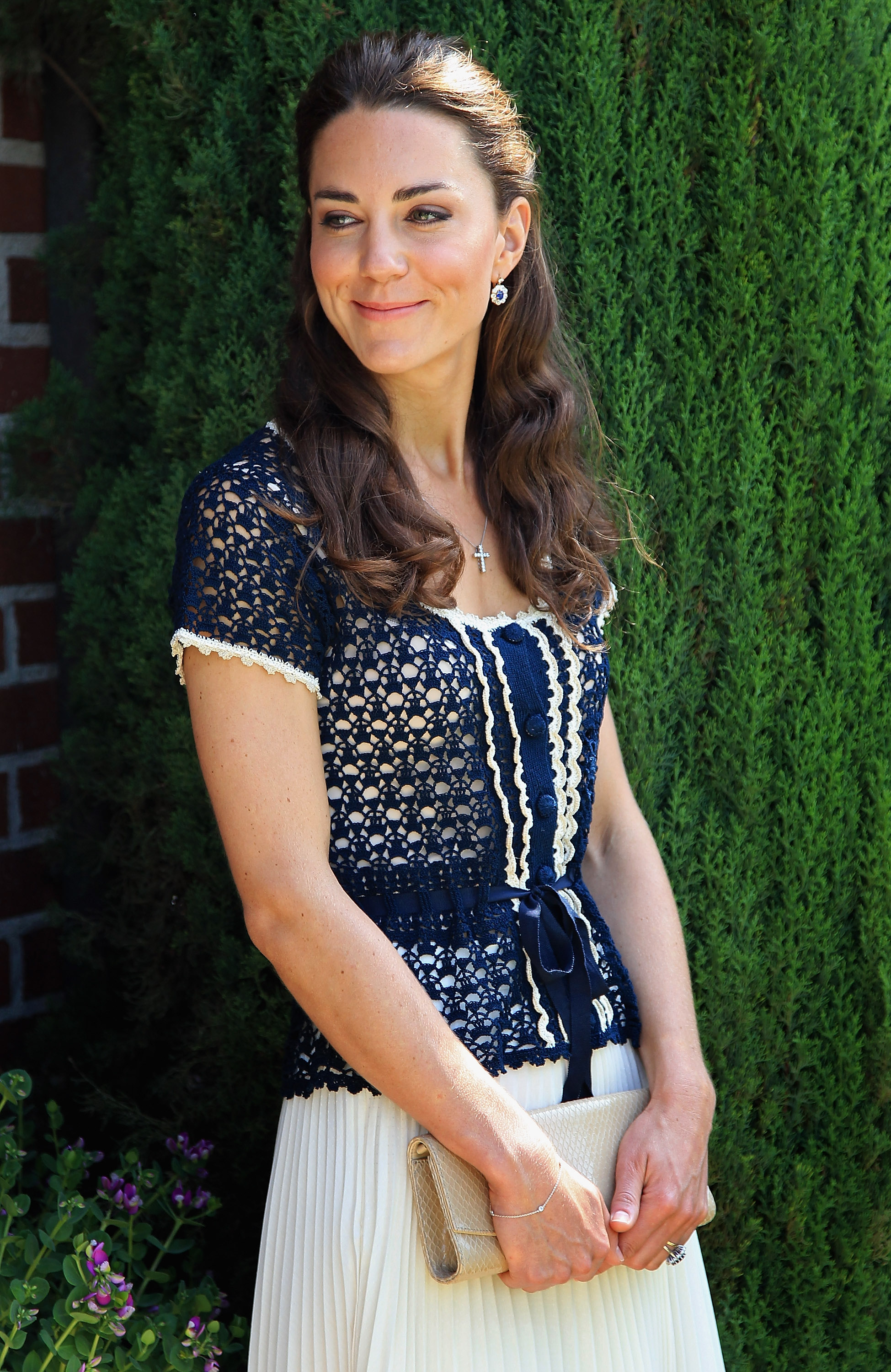 <strong>Princess in Profile</strong>                                   Middleton picked a knit top and white skirt for a reception in Santa Barbara, Calif., on July 10, 2011. The ceremony marked the launch of Tusk Trust's U.S. Patron's Circle. Prince William is a royal patron of the trust, which supports development projects across Africa.