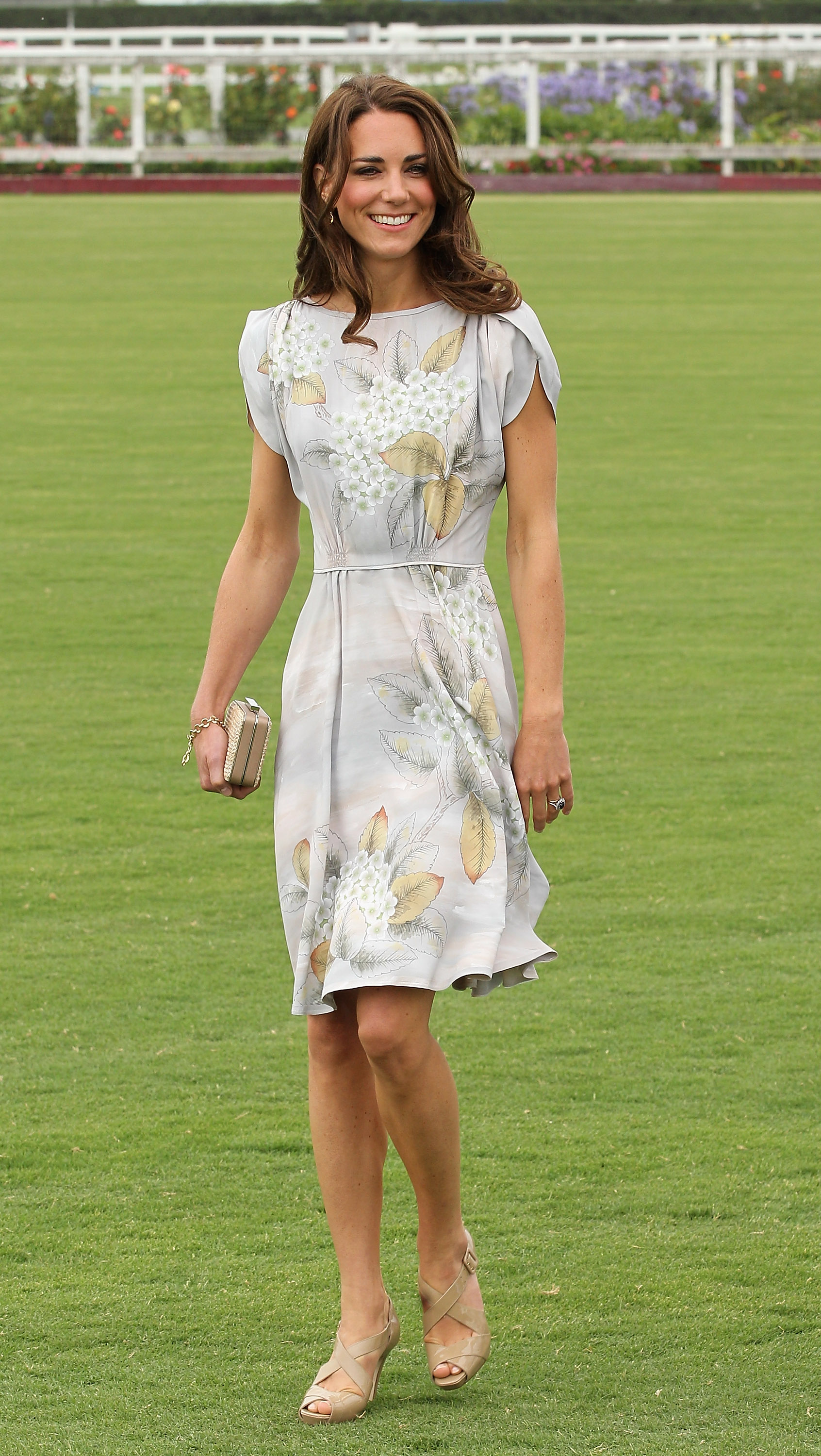 <strong>Scoring on the Field</strong>                                   The Duchess chose a stunning Jenny Packham shift to wear at the Foundation Polo Challenge in Santa Barbara, Calif., on July 9, 2011. Prince William scored four goals during the match, helping his team, Royal Salute, win the tournament.
