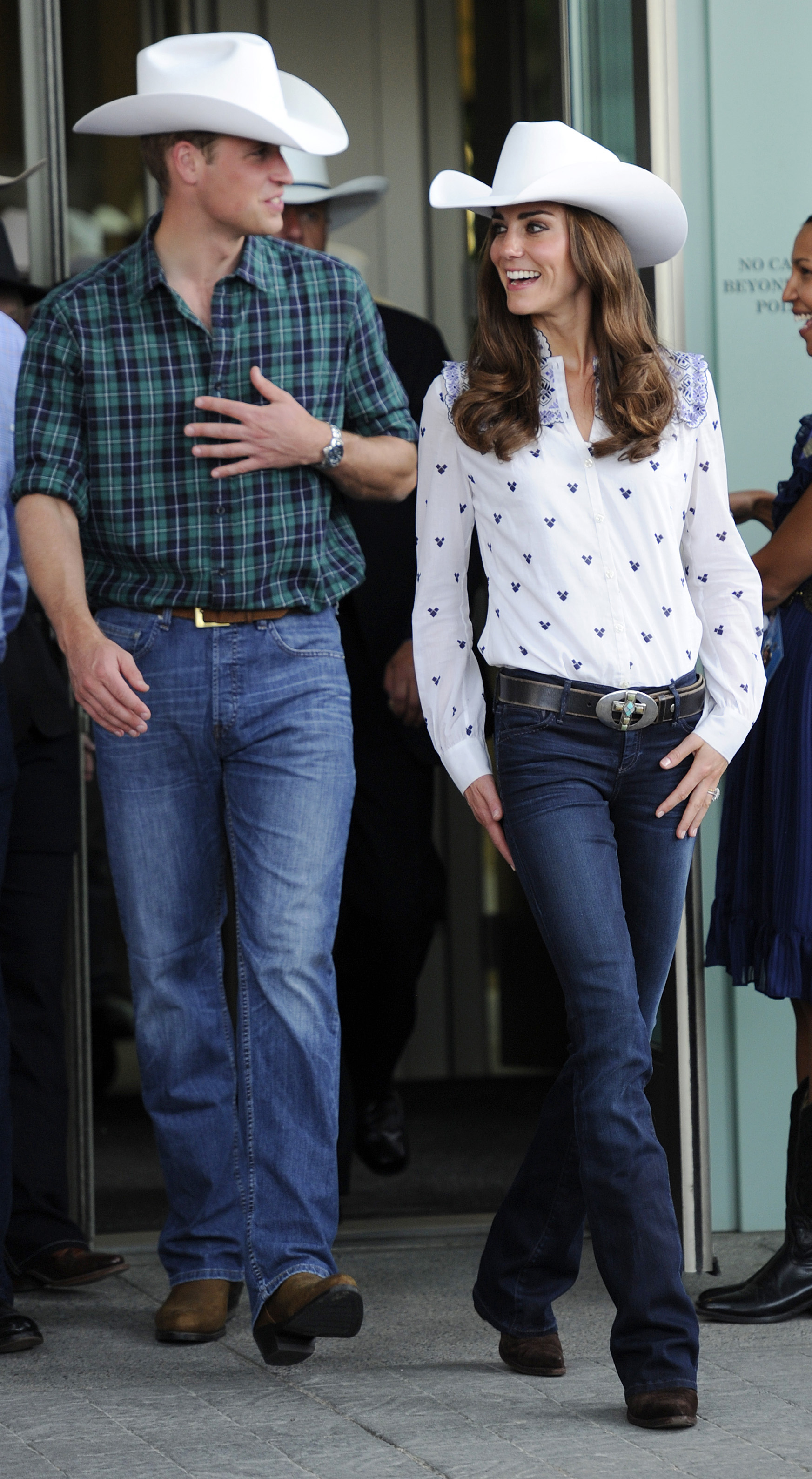 <strong>Cowgirl Kate</strong>                                   In Calgary, Canada, the Duchess attended a government reception at the BMO Centre on July 7, 2011. She looked all-American in her cowboy hat, boots and bold belt buckle.