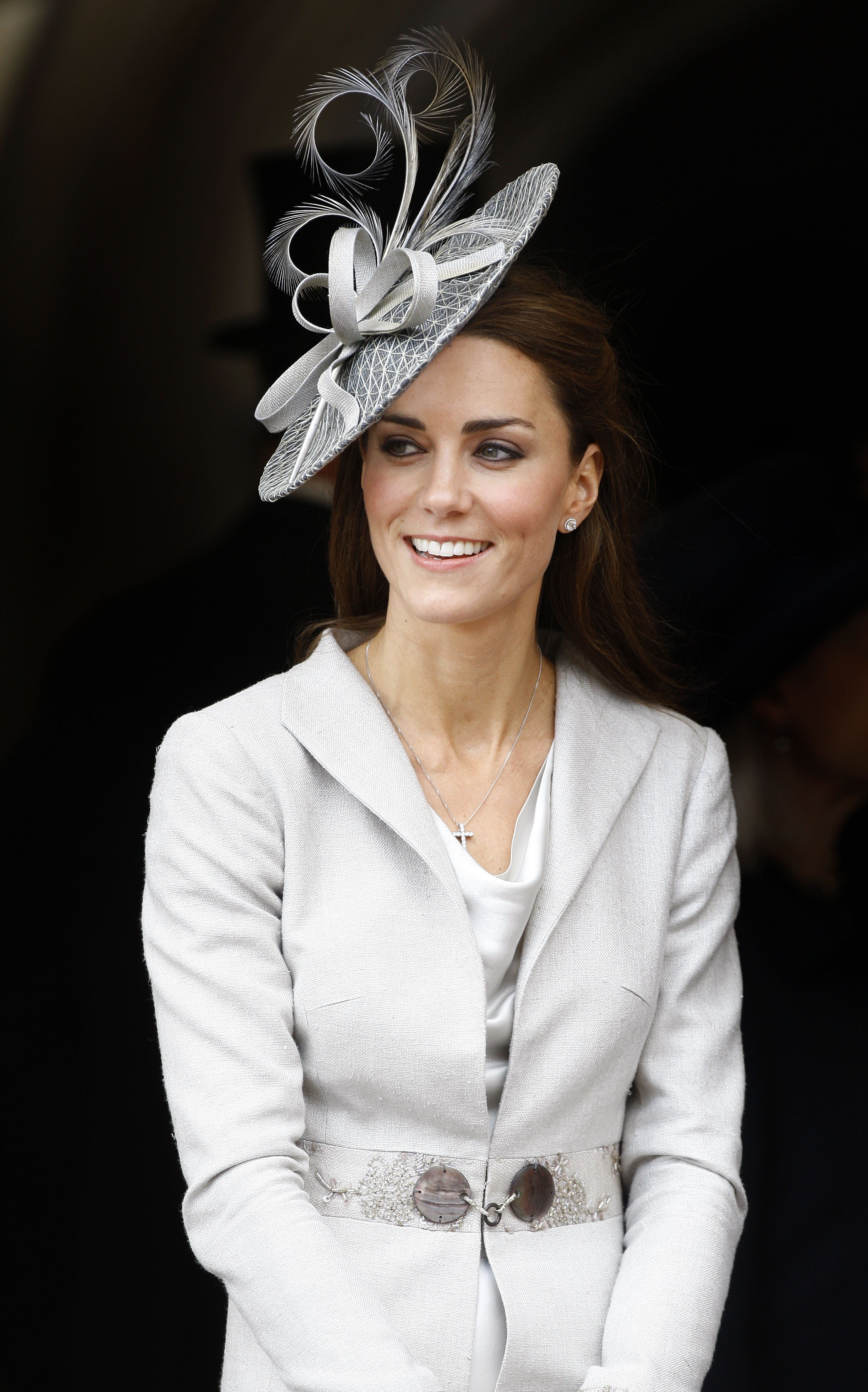 <strong>Princess in Profile</strong>                                   In Windsor, Middleton watched the Garter Service in a gray suit and fascinator. June 13, 2011.