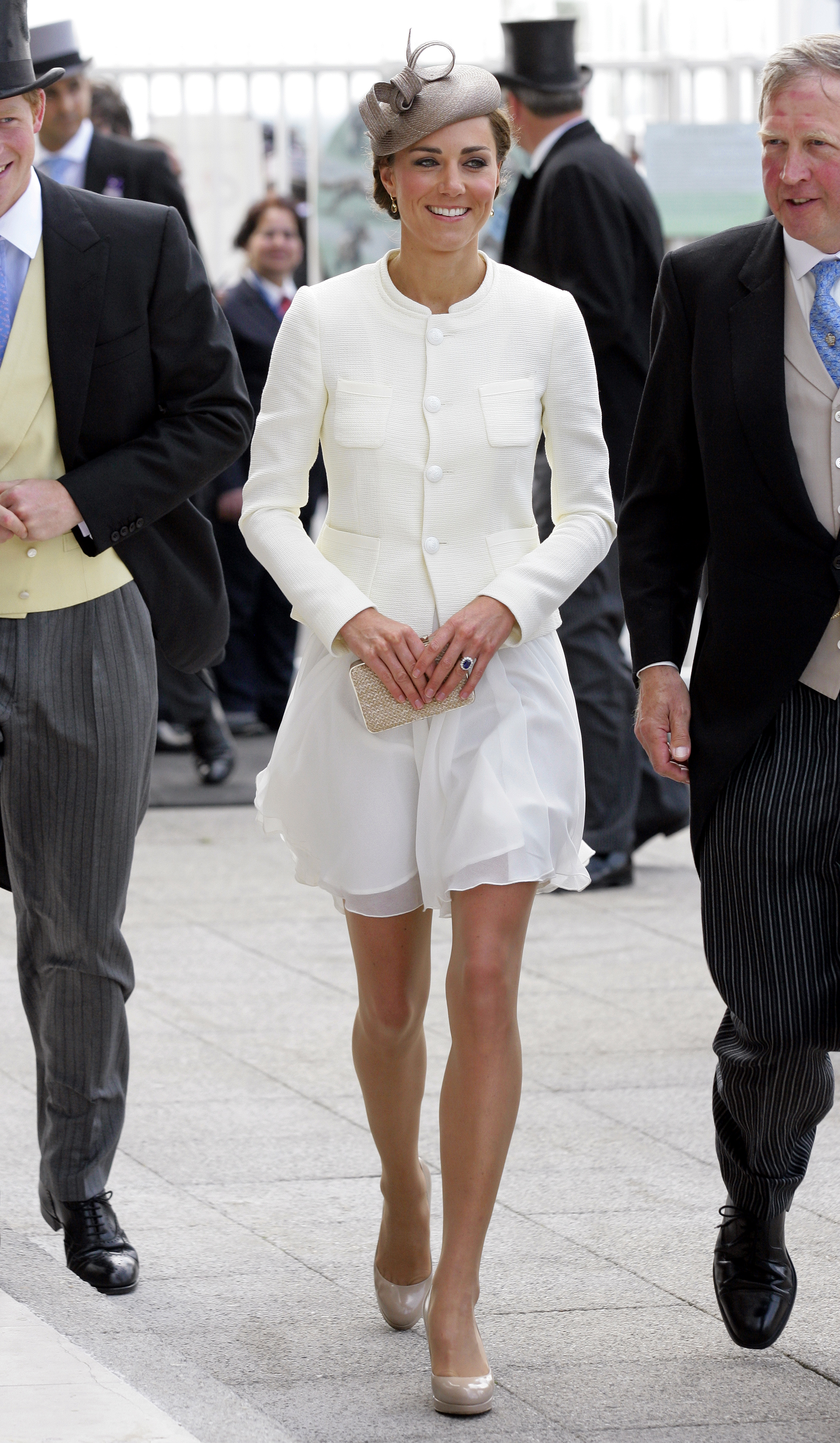<strong>Racy Attire</strong>                                   The Duchess wore a Reiss dress under a Joseph jacket to a Derby festival in Epsom, England, on June 4, 2011.
