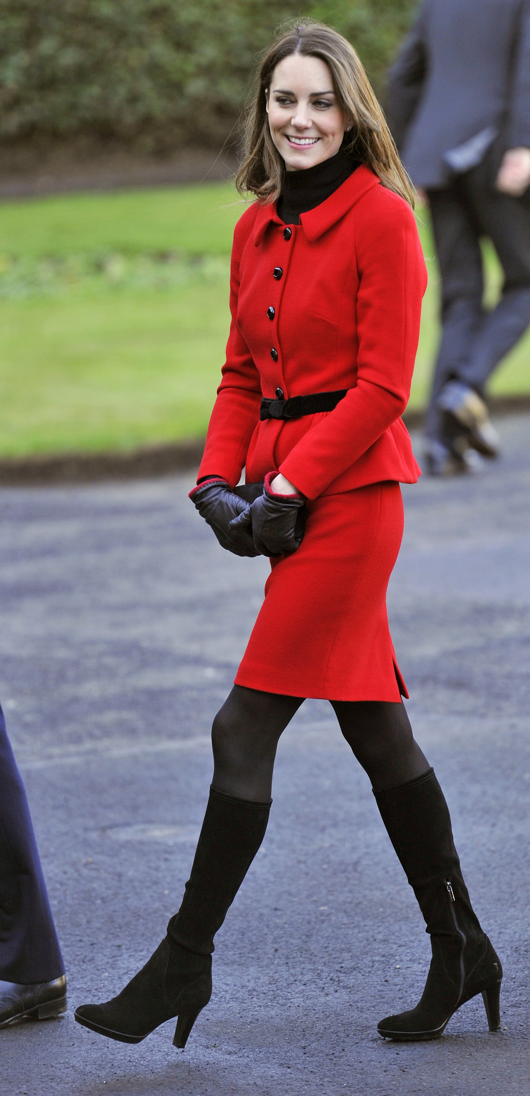 <strong>The Lady in Red</strong>                                   Middleton wore red on Feb. 25, 2011 to commemorate the 600th anniversary of her and Prince William's alma mater, St. Andrew's University, where they met.