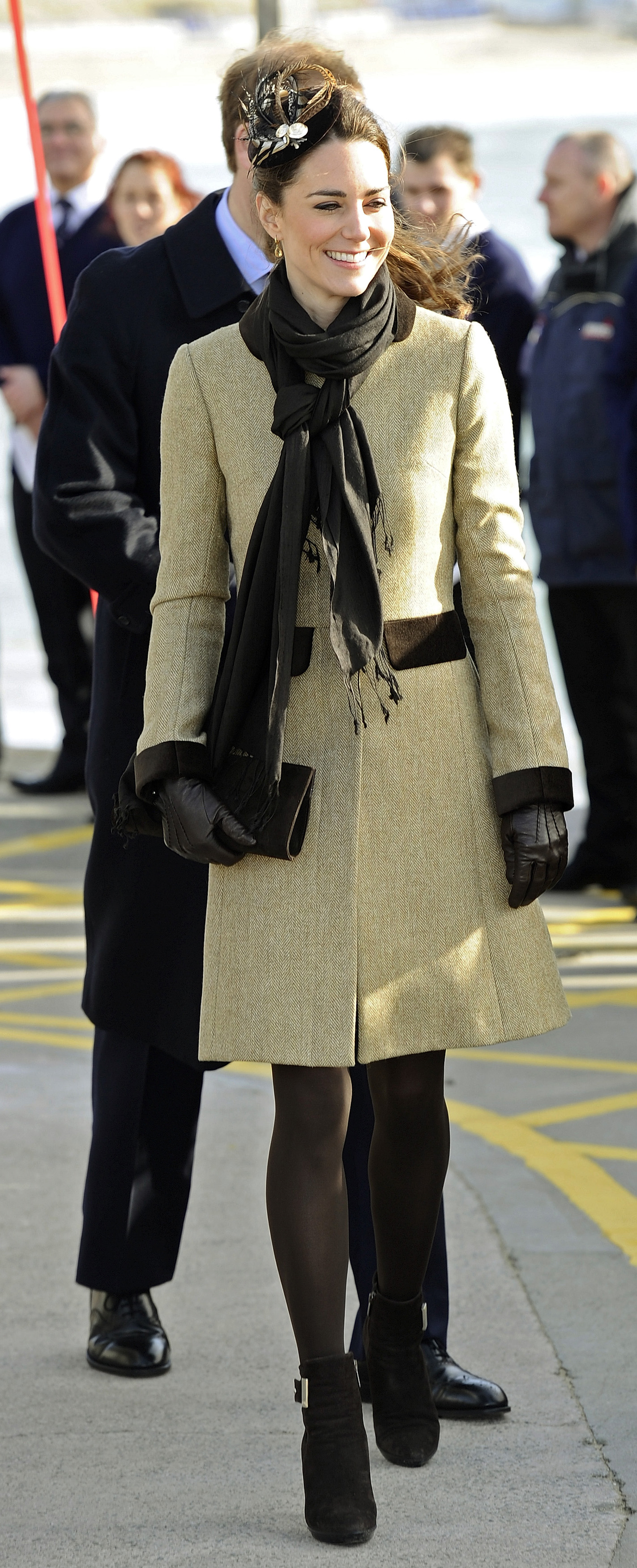 <strong>Middleton's Official Style</strong>                                   In her first official royal duty after the announcement of her engagement to Prince William, Middleton wore a coat with a classic silhouette, accessorized by a feather headpiece. Feb. 24, 2011