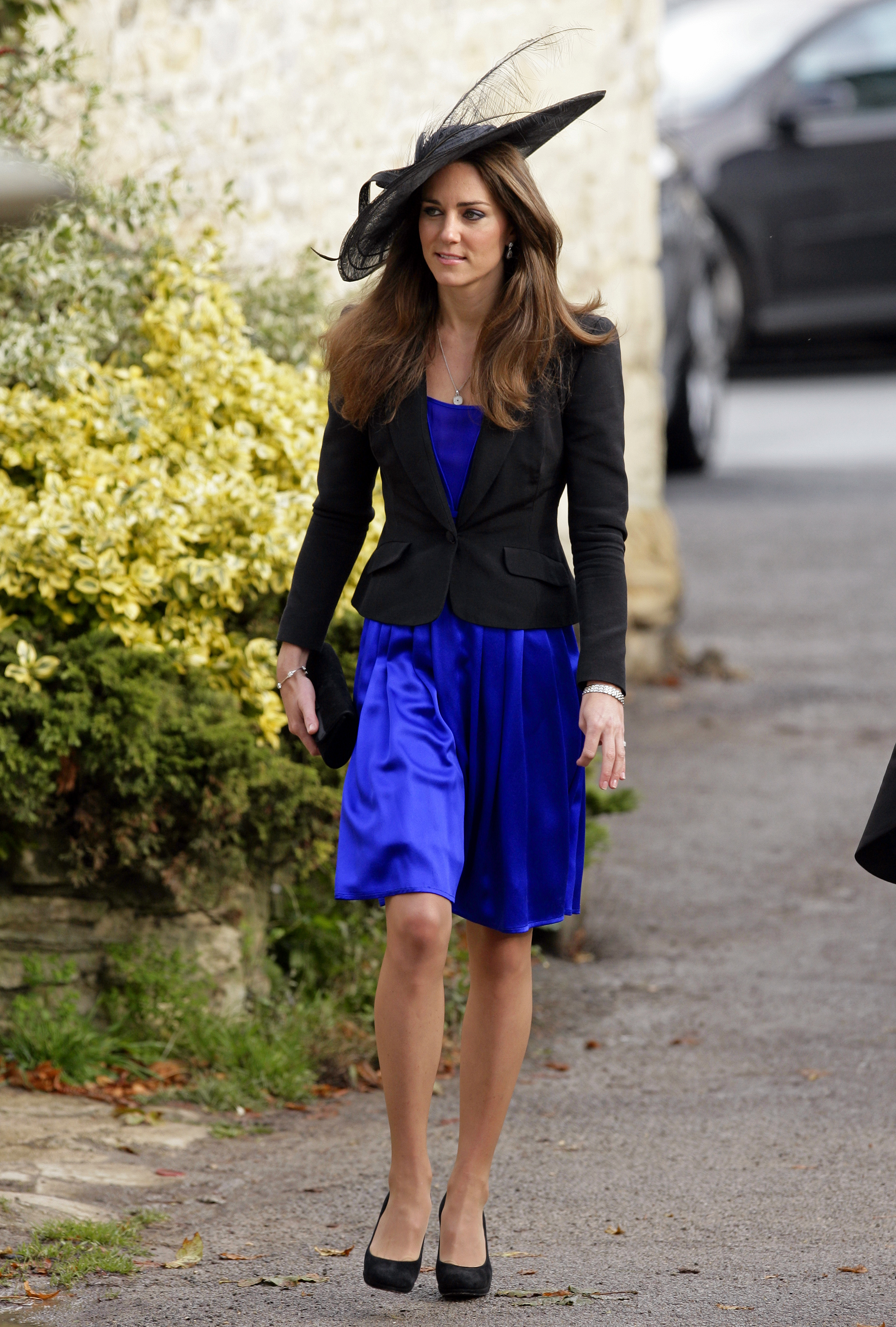 <strong>Blue Beauty, Take Two</strong>                                   A month before she would wear that other famous blue dress, Middleton picked a sapphire shift to wear to a friend's wedding in Cheltenham, England, on Oct. 23, 2010.