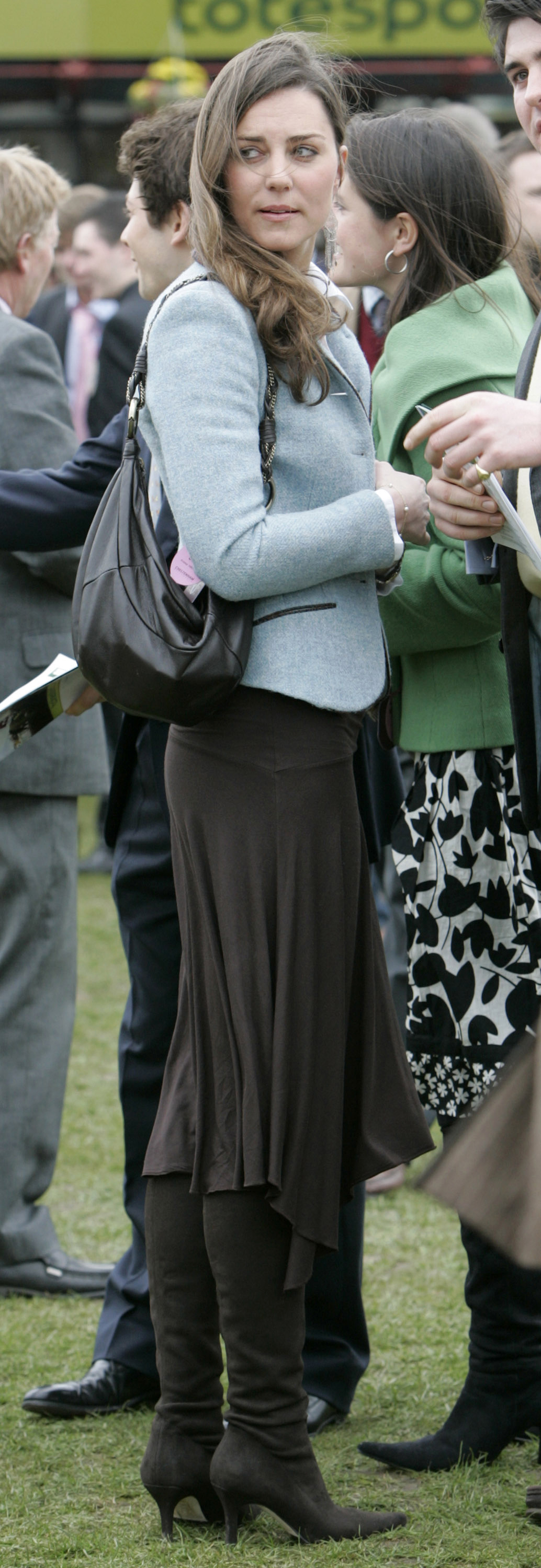 <strong>Dressing Down</strong>                                   Middleton picked an informal blue blazer and flowy skirt for the final day of horse racing at the Cheltenham Festival on March 16, 2007.