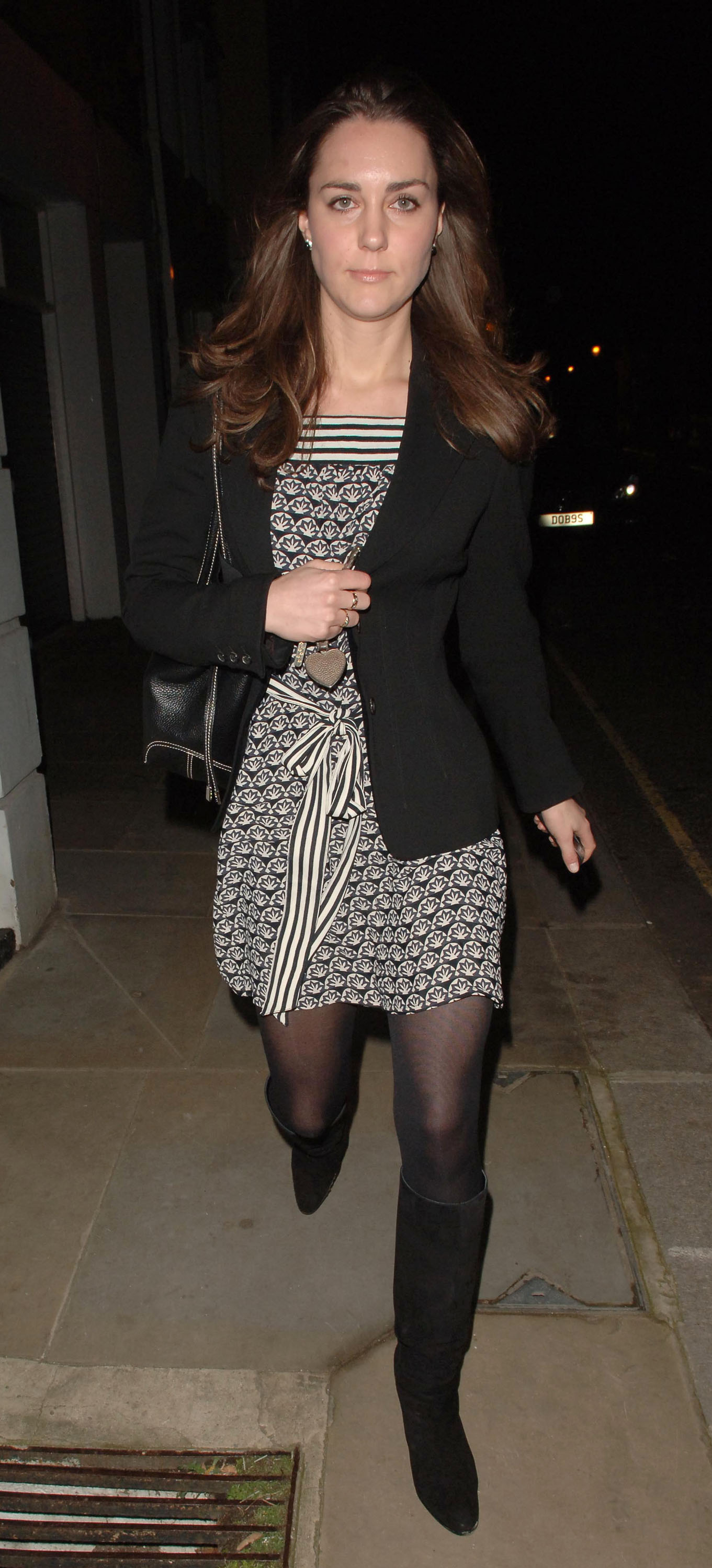 <strong>Working-Girl Wardrobe</strong>                                   Photographers snapped Middleton in a patterned dress and black blazer as she returned home from work in London on Jan. 9, 2007. She had worked as an accessories buyer for Jigsaw, a clothing chain, but will not be able to do any work apart from charity after getting married.