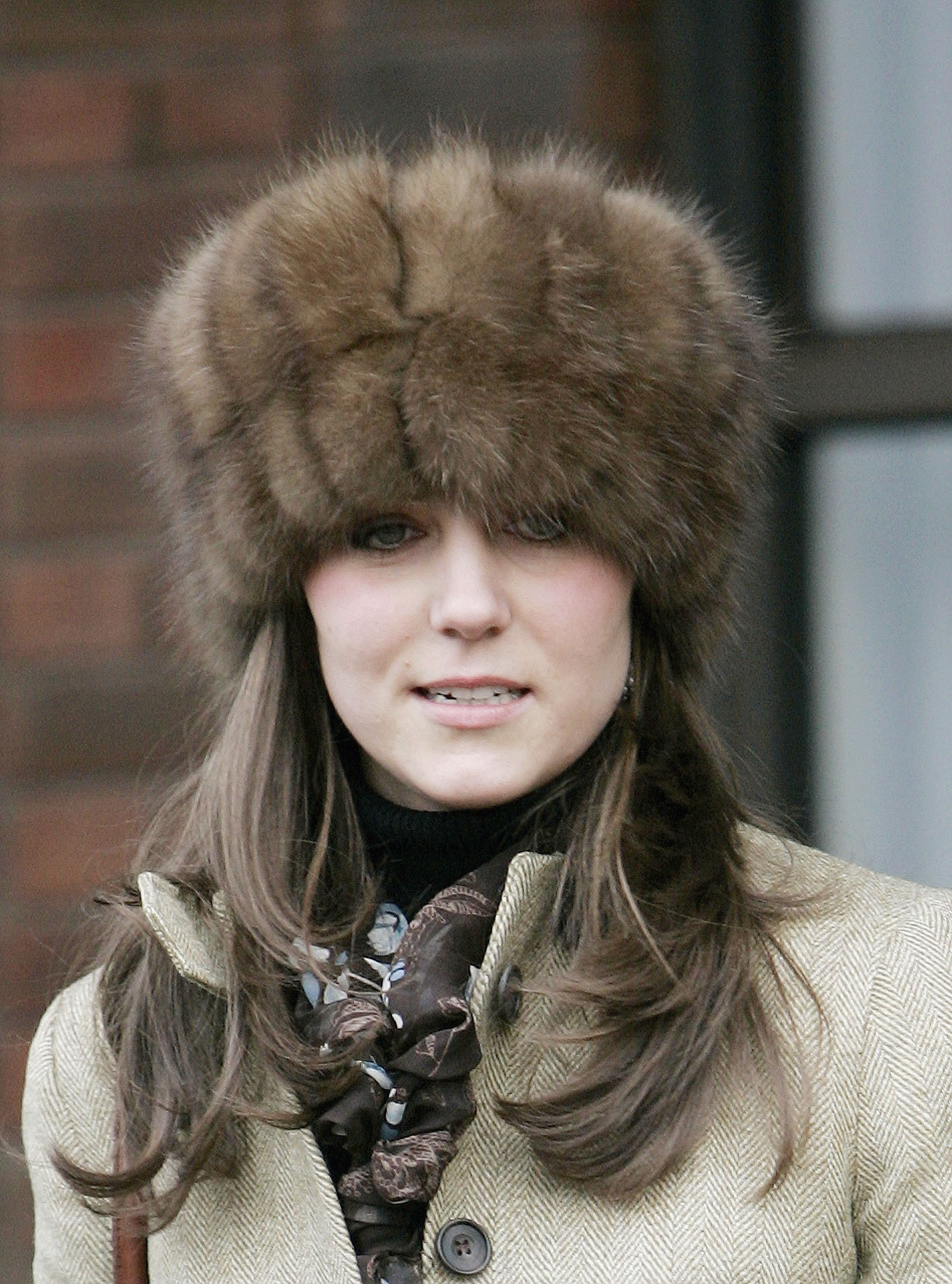 <strong>Russian Influence</strong>                                   Middleton kept warm in a fur hat at the Cheltenham Races on March 17, 2006.