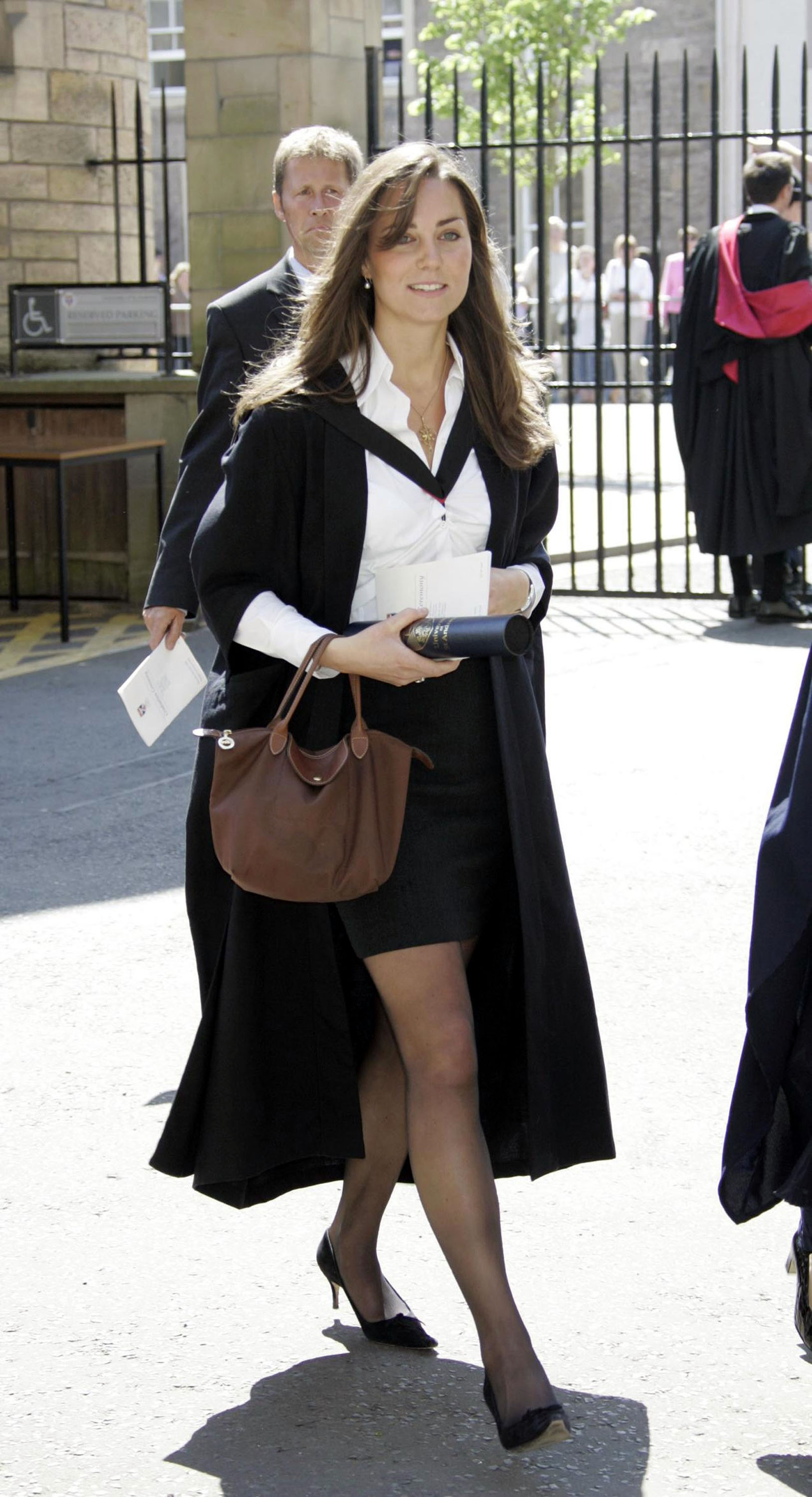 <strong>Graduation Day</strong>                                   Middleton, 23 in this photograph, in her University of St. Andrews graduation-ceremony attire. June 23, 2005