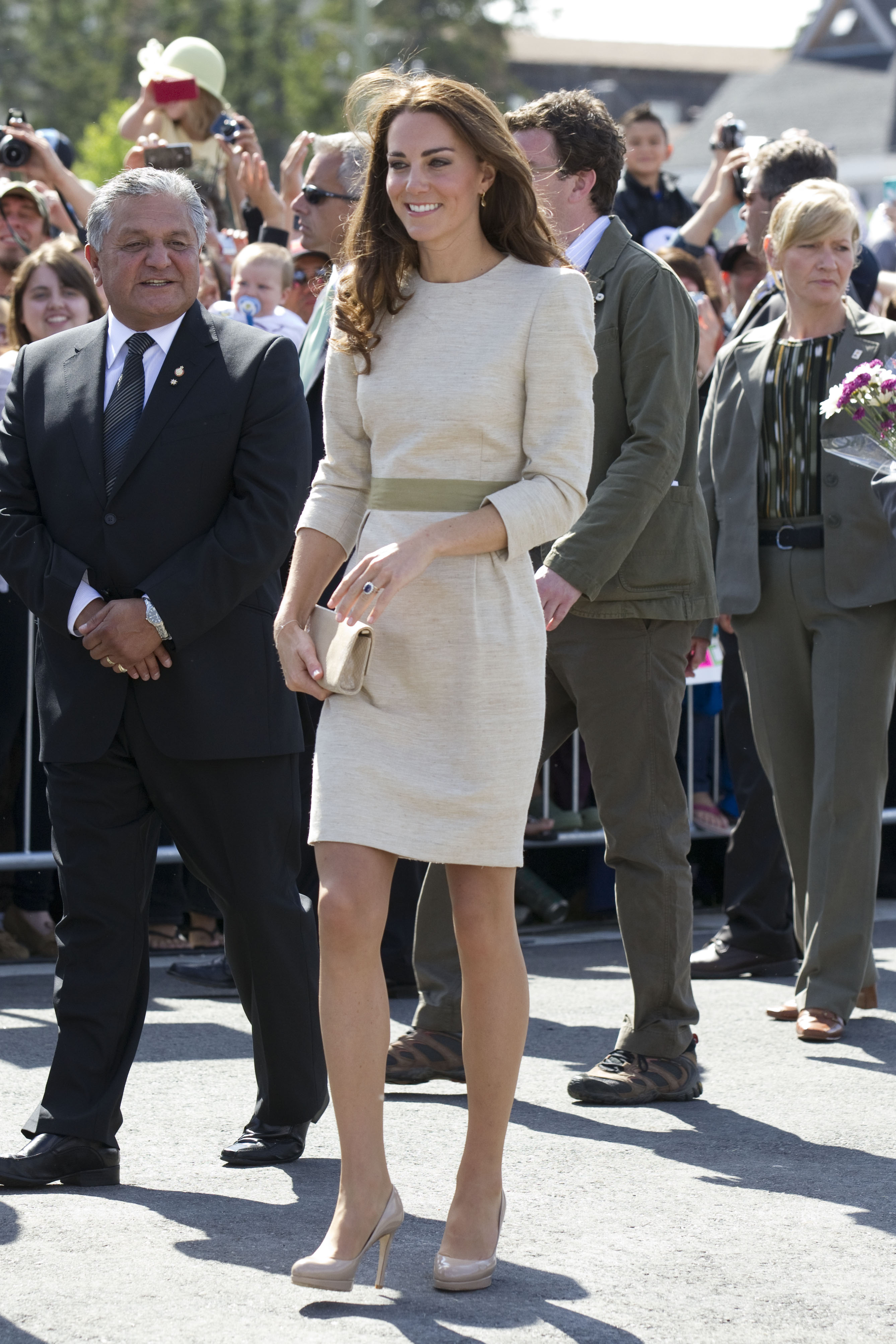 <strong>Made by Malene</strong>                                   On July 5, 2011, the Duchess chose a beige Malene Birger shift while touring Yellowknife, Canada.
