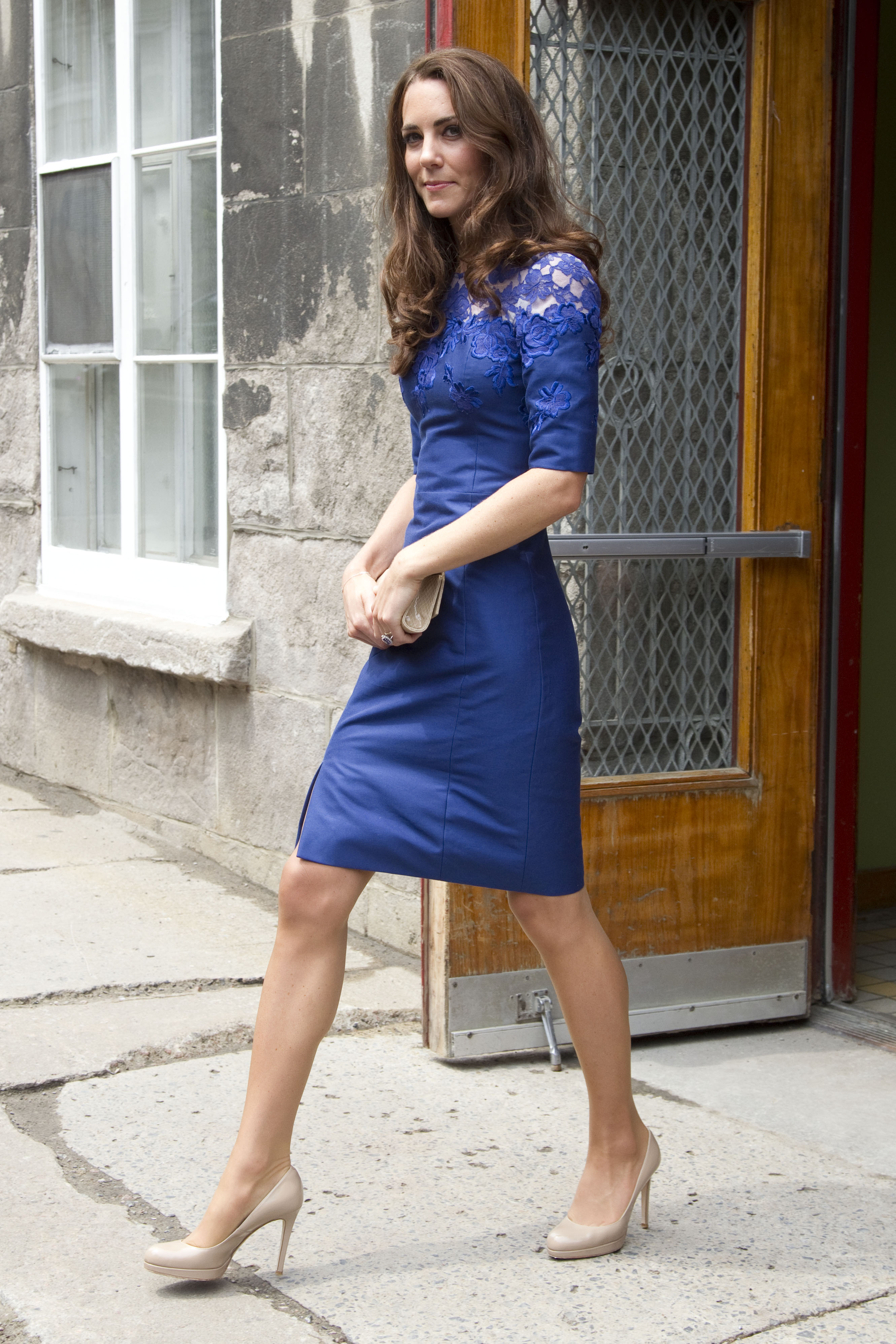 <strong>Beautiful in Blue</strong>                                   The Duchess visited youth in Quebec on July 3, 2011, in a blue Erdem lace dress.
