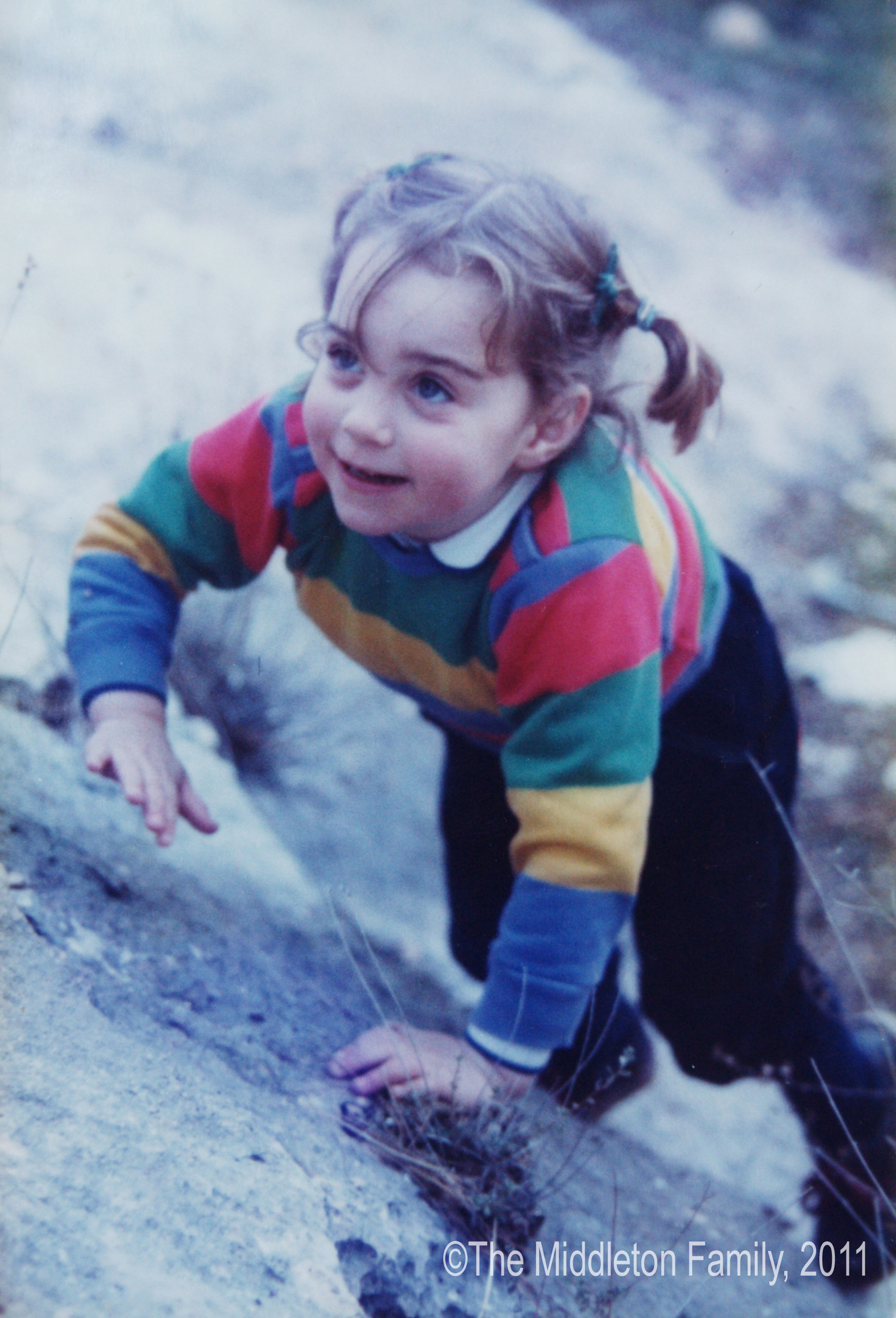 <strong>Kiddie Kate Style </strong>                                   Fashionable from the beginning, Middleton sported colors and stripes as a 3-year-old on a family holiday in England's Lake District in 1985.