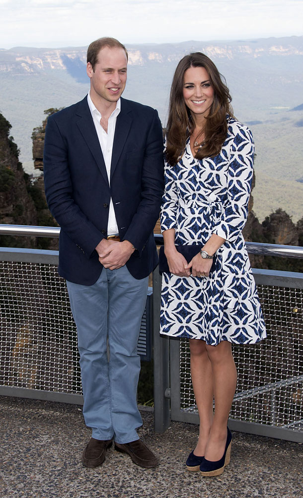 <strong>Perfect Print</strong>Prince William and Catherine Duchess of Cambridge visit Echo Point, Katoomba in the Blue Mountains, Australia, April 17, 2014.