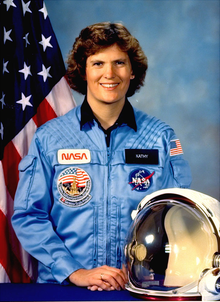 Astronaut Kathryn Sullivan at the Johnson Space Center, in Houston, on                               July 20, 1984. On Oct. 13, 1984, Sullivan was the first U.S. woman to                               walk in space. She was appointed as the Under Secretary                               of Commerce for Oceans and Atmosphere and NOAA Administrator on March 6,                               2014.