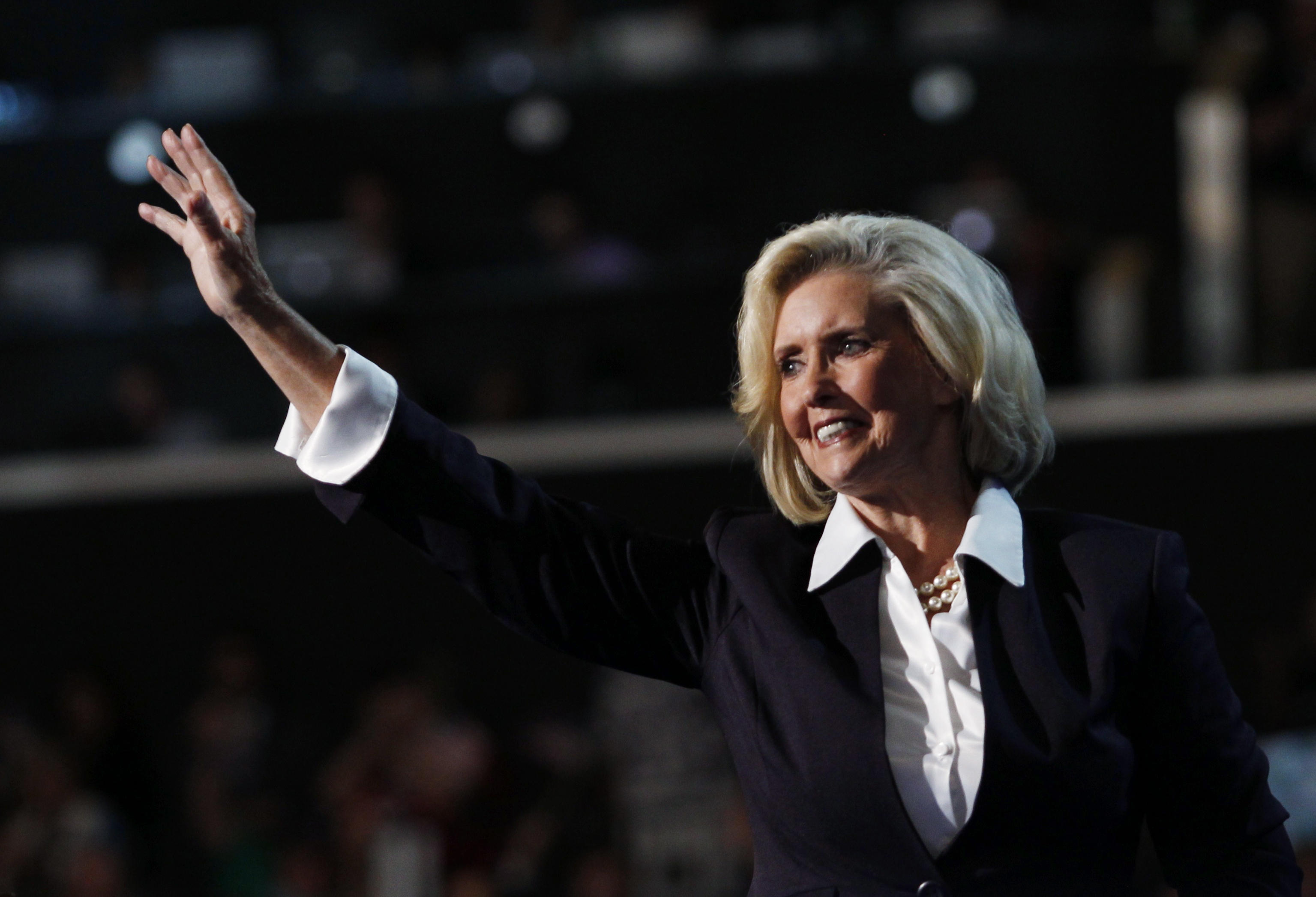 Women's rights leader Lilly Ledbetter, namesake of the Lilly Ledbetter Fair Pay Act, addresses the first session of the Democratic National Convention in Charlotte, N.C., on Sept. 4, 2012.
