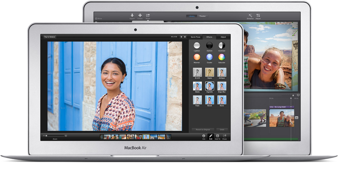 Apple's 11- and 13-inch MacBook Air laptops