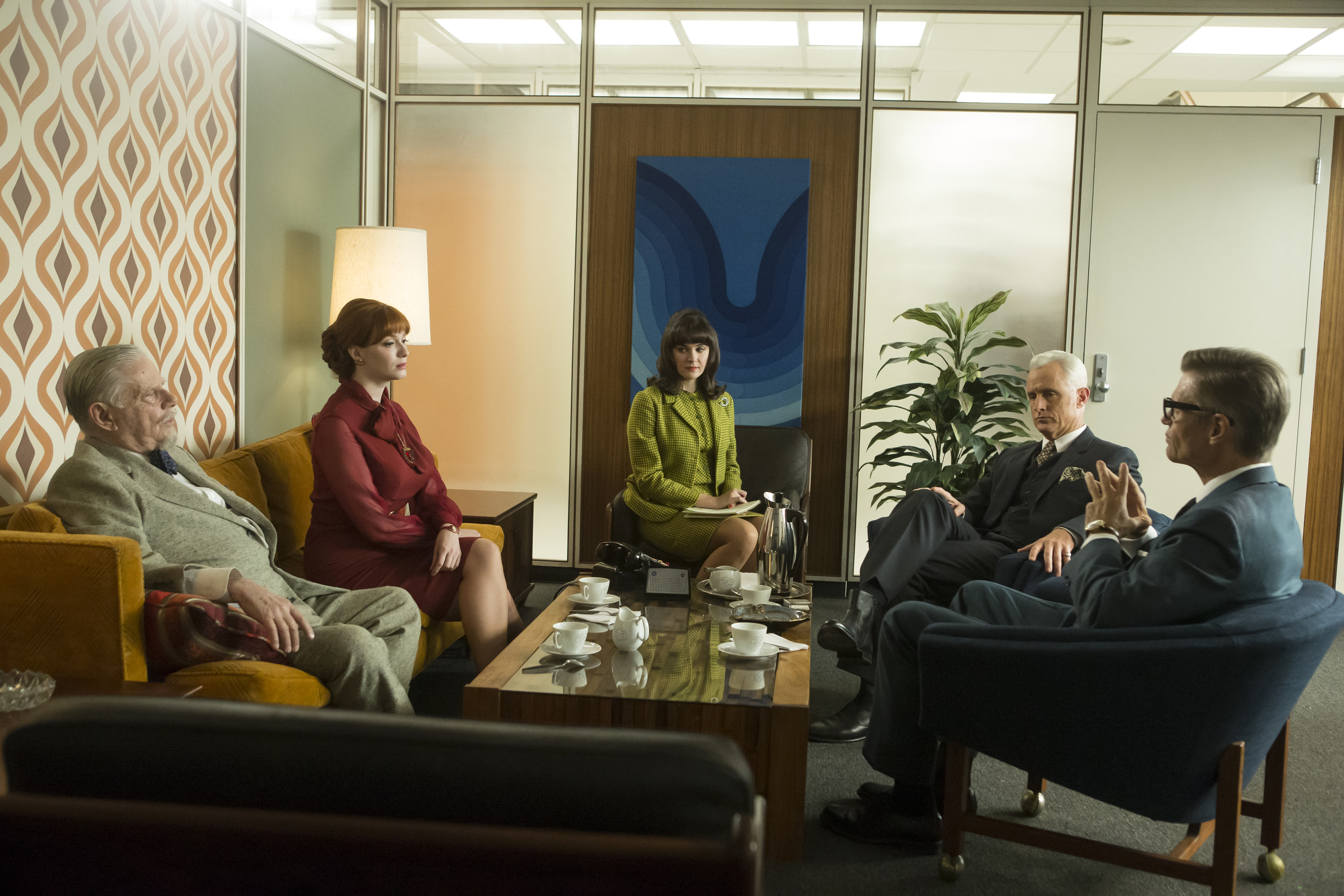 A partners' meeting on Mad Men.
