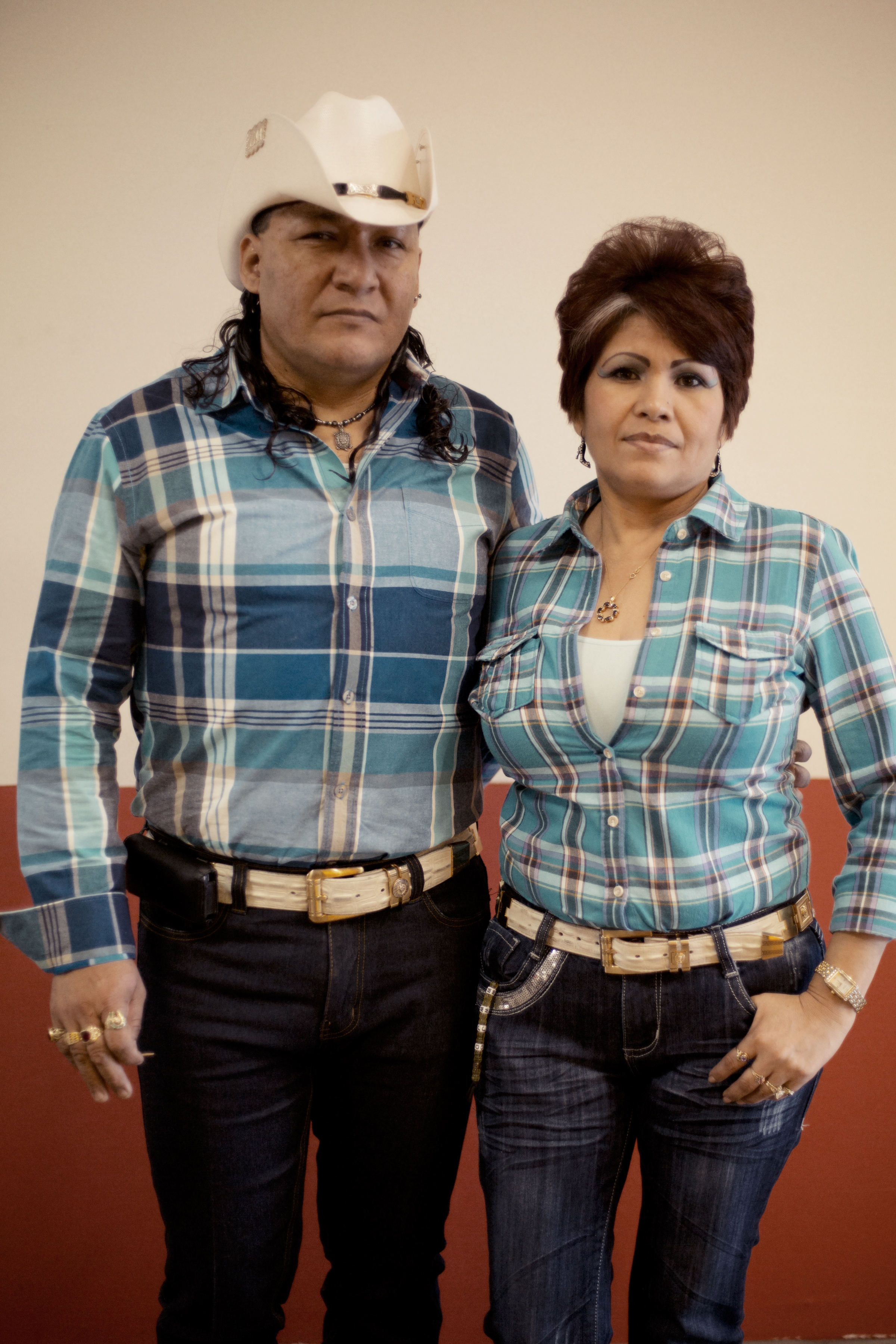 Margarito Vences and Angelita Rogeriguez, from Michoacán, Mexico, like to co-ordinate their outfits and buy clothes when they come to the mall.