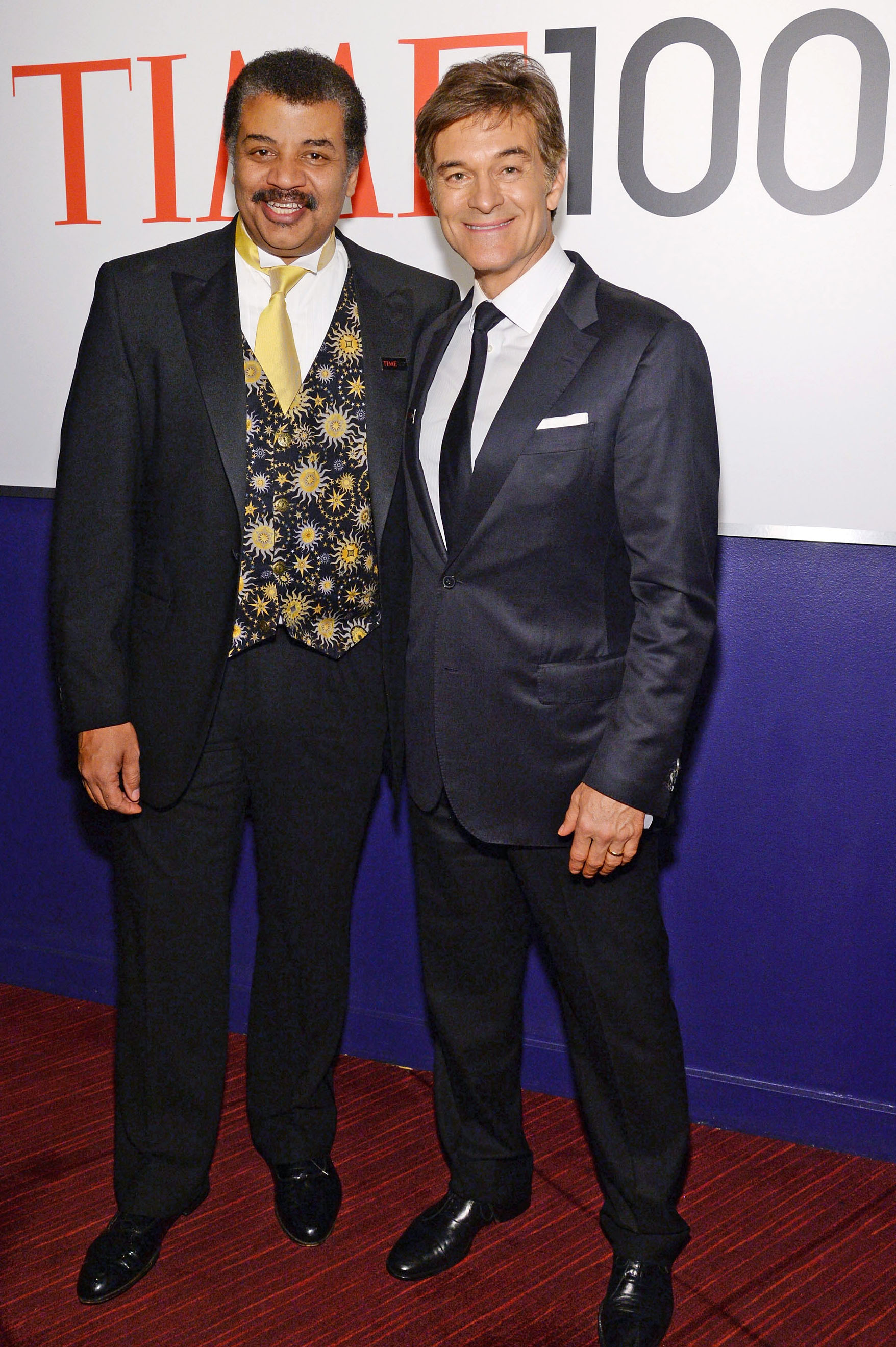 From left: Neil deGrasse Tyson and Dr. Mehmet Oz attend the TIME 100 Gala, TIME's 100 most influential people in the world, at Jazz at Lincoln Center on April 29, 2014 in New York City.
