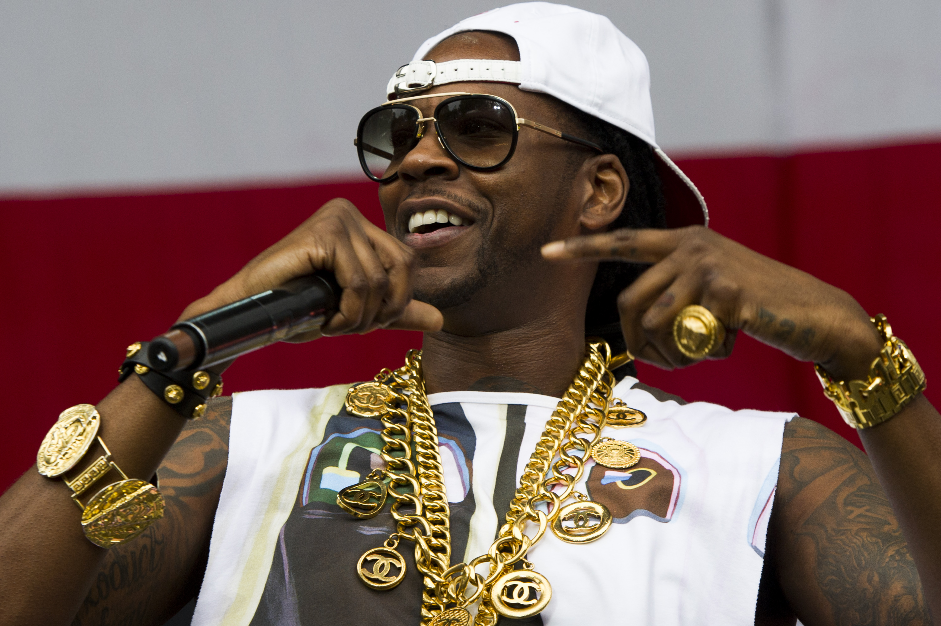 This Aug. 31, 2013 file photo shows 2 Chainz performing at the 2013 Budweiser Made in America Festival in Philadelphia, Pa.