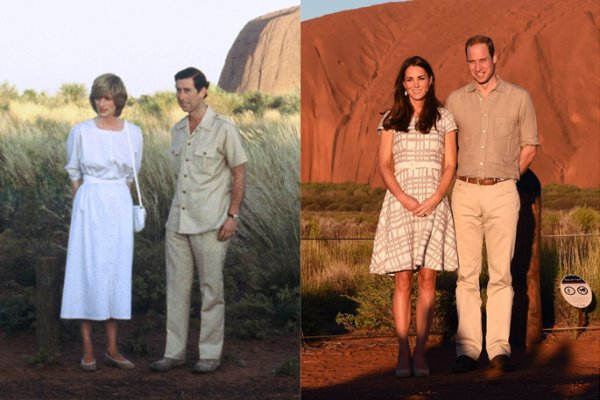 kate middleton and william pose like charles and diana in australia time kate middleton and william pose like charles and diana in australia time