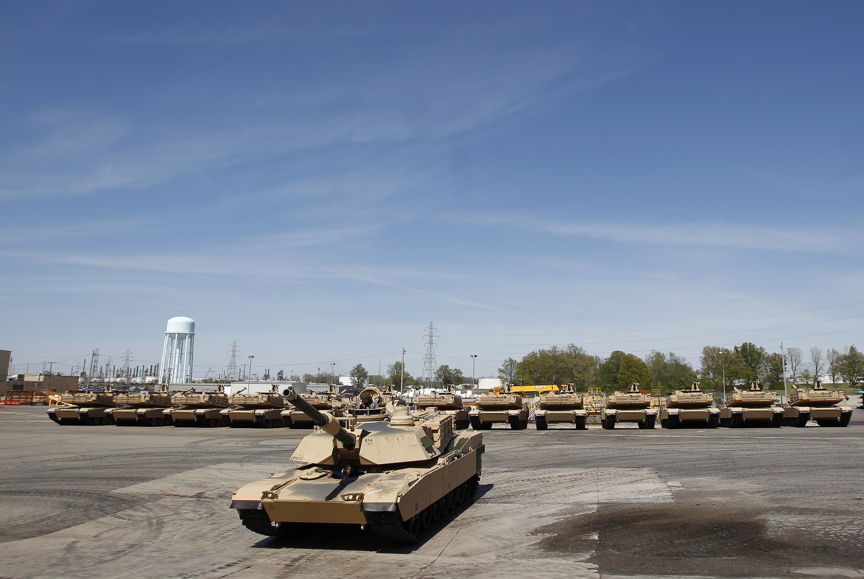 Tanks at the Joint Systems Manufacturing Center in Lima, Ohio.