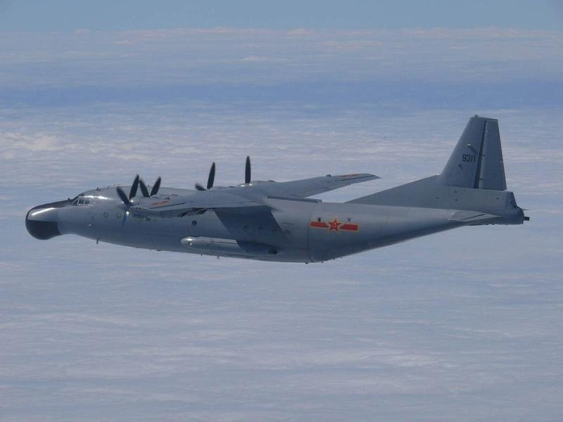 Japan has scrambled against hundreds of Chinese military planes during the last 12 months, including this aircraft that flew through Japanese airspace on October 27, 2013.
