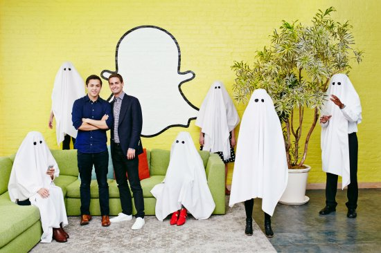 Evan Spiegel and Bobby Murphy Snapchat TIME 100