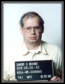David Sheldon Boone was going broke, separated from his wife, and stuck in a rut at his job as a National Security Agency analyst when started spying for the Soviet Union in 1988. After retiring in 1991 his espionage died down, but in 1998 the FBI tricked him into sharing the details of his spying. He's currently serving what's left of his 24-year sentence at a low security prison in Arizona.