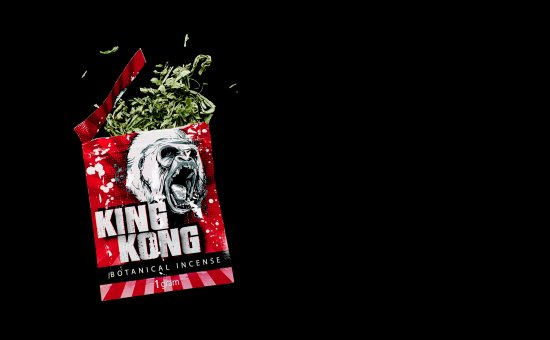 A package of synthetic cannabinoid seized by the DEA