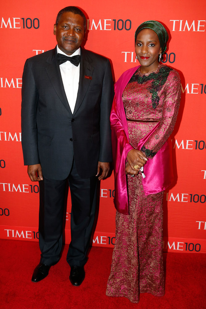 Honoree Aliko Dangote at the Time 100 Gala at Jazz at Lincoln Center in New York on April, 29, 2014.