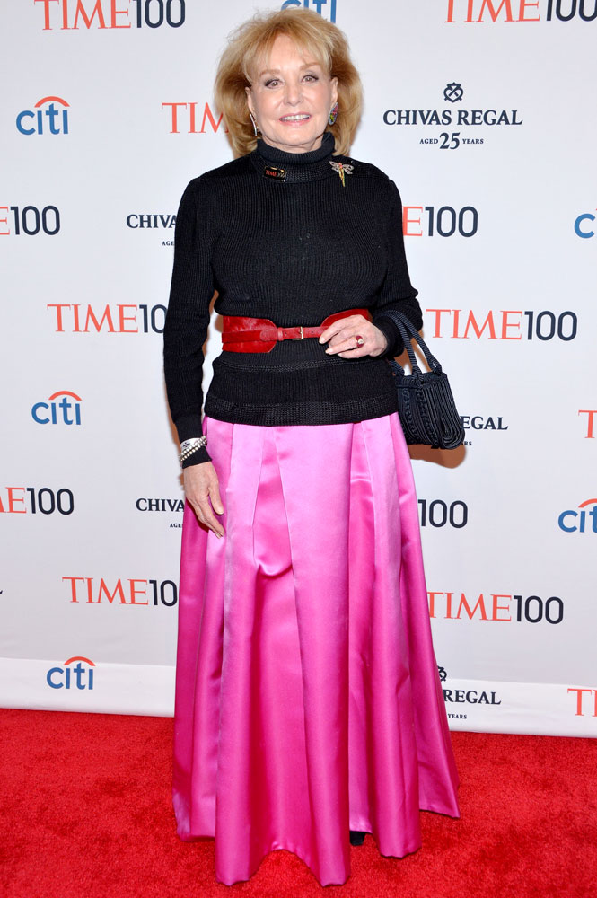 Barbara Walters attends the TIME 100 Gala, TIME's 100 most influential people in the world, at Jazz at Lincoln Center on April 29, 2014 in New York City.