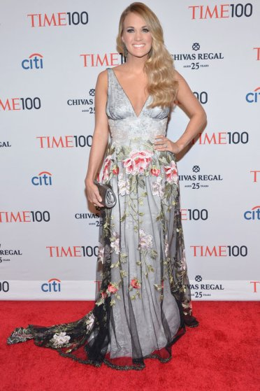 Honoree Carrie Underwood attends the TIME 100 Gala, TIME's 100 most influential people in the world, at Jazz at Lincoln Center on April 29, 2014 in New York City.