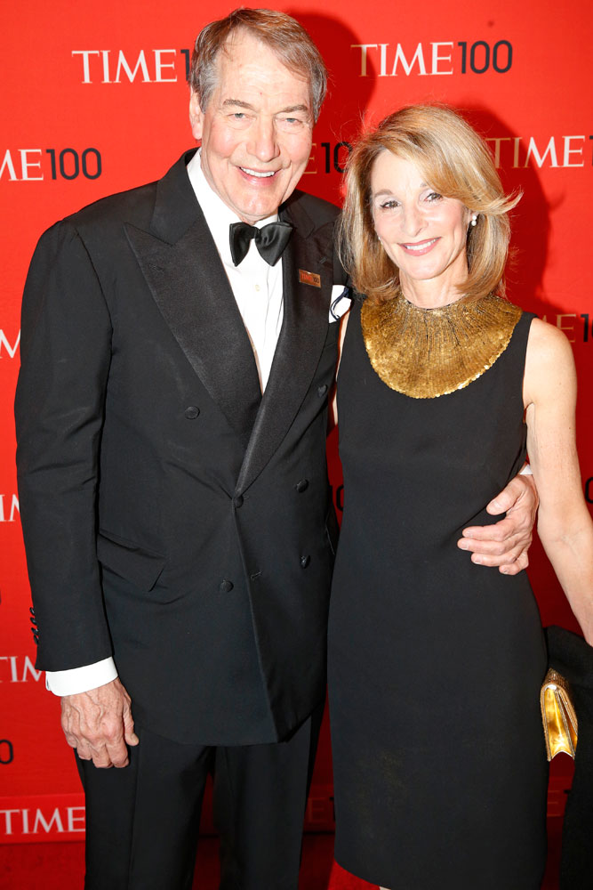 Charlie Rose at the Time 100 Gala at Jazz at Lincoln Center in New York on April, 29, 2014.