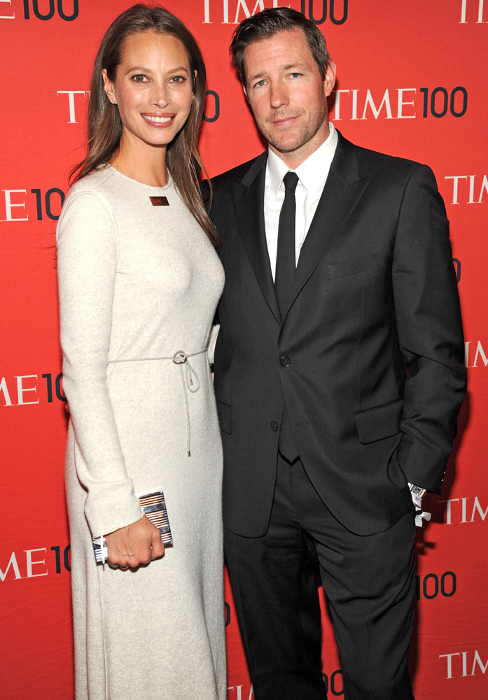From left: Honoree Christy Turlington Burns and Ed Burns attends the TIME 100 Gala, TIME's 100 most influential people in the world at Jazz at Lincoln Center on April 29, 2014 in New York City.