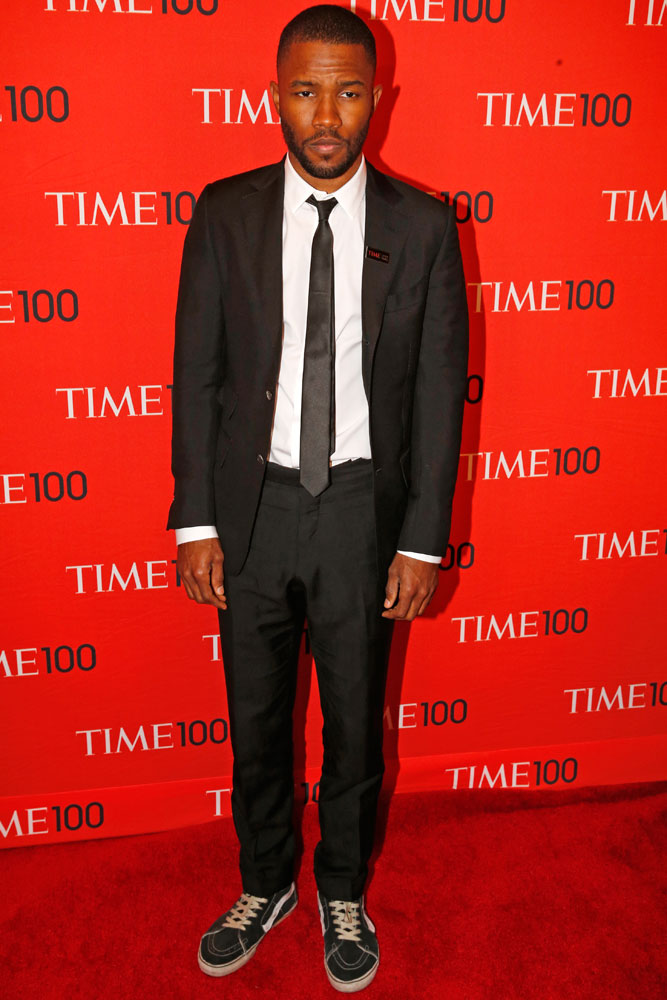 Frank Ocean at the Time 100 Gala at Jazz at Lincoln Center in New York on April, 29, 2014.