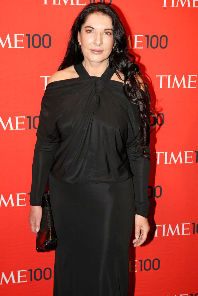 Honoree Marina Abramovic at the Time 100 Gala at Jazz at Lincoln Center in New York on April, 29, 2014.