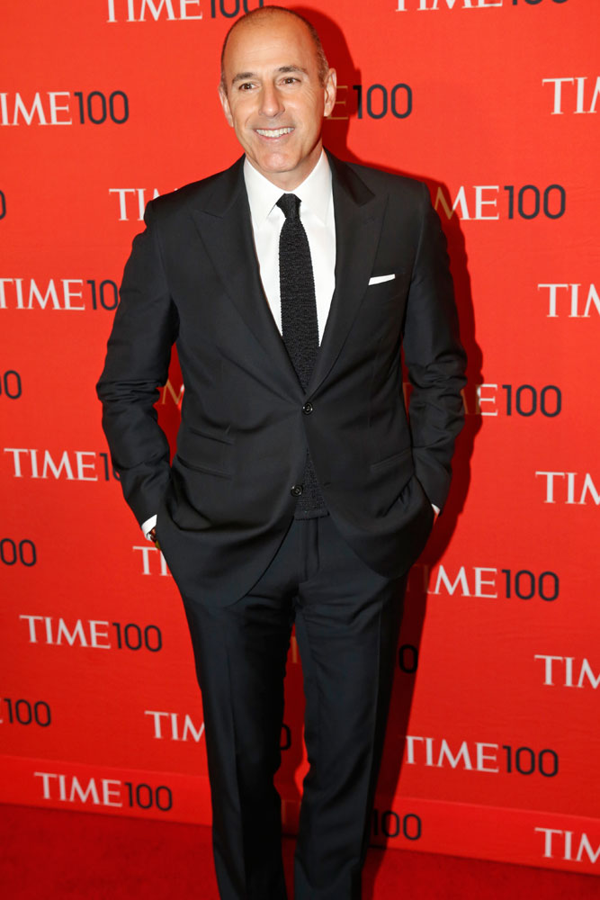 Matt Lauer at the Time 100 Gala at Jazz at Lincoln Center in New York on April, 29, 2014.