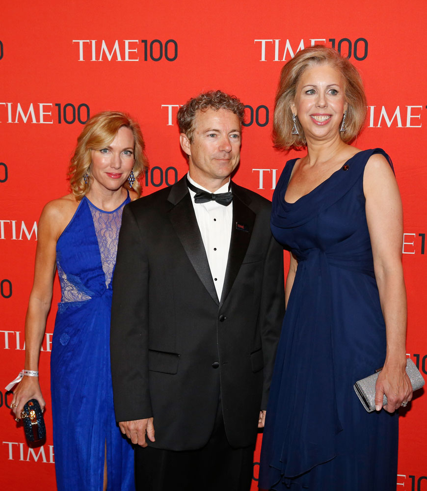 From left: Kelley Ashby, Honoree Rand Paul and TIME Managing Editor Nancy Gibbs attend the TIME 100 Gala at Jazz at Lincoln Center on April 29, 2014 in New York City