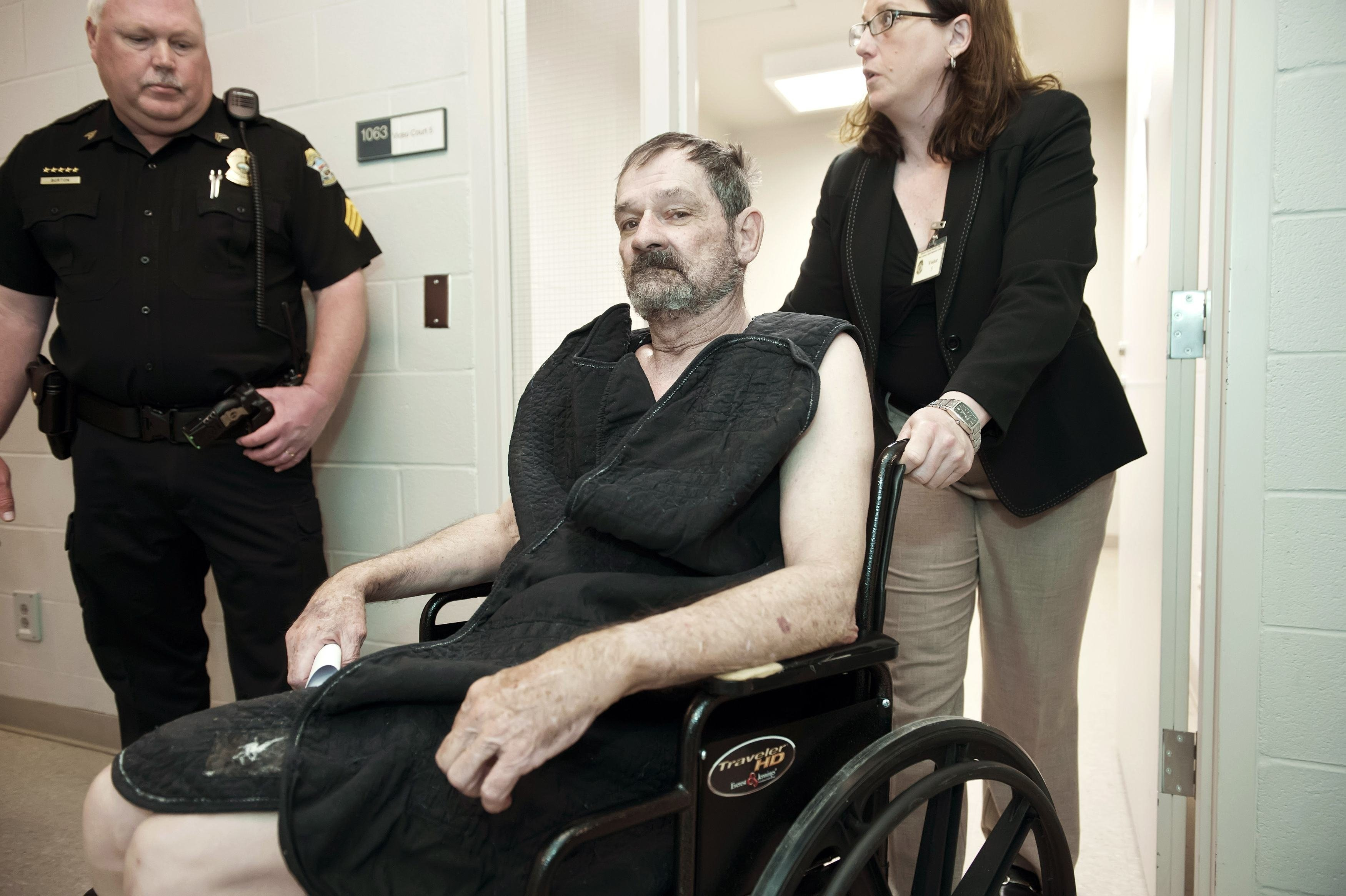 Frazier Glenn Cross at his arraignment on murder charges