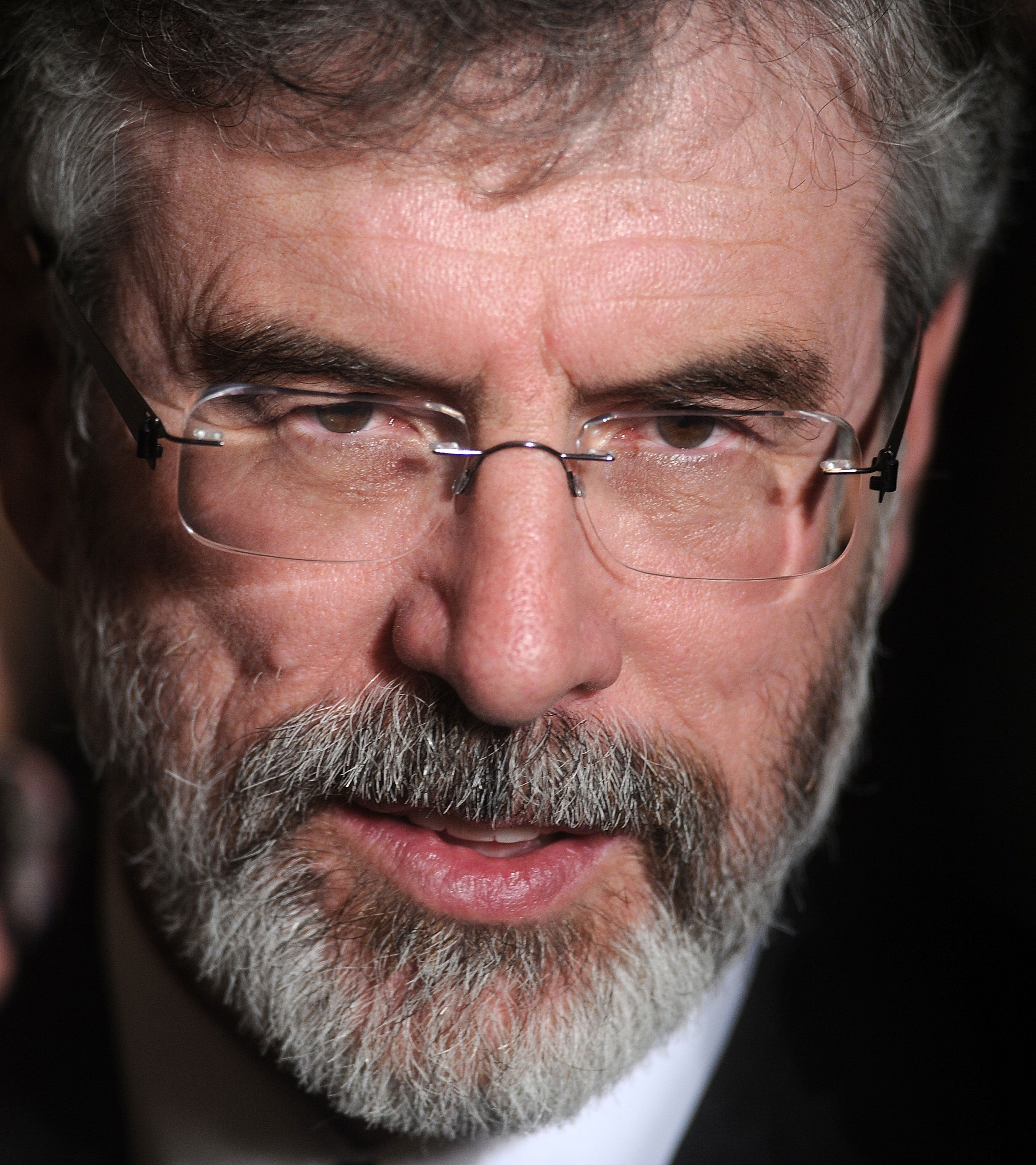 Former Sinn Féin leader Gerry Adams attends a St. Patrick's Day reception in the East Room of the White House on March 17, 2011 in Washington, DC.