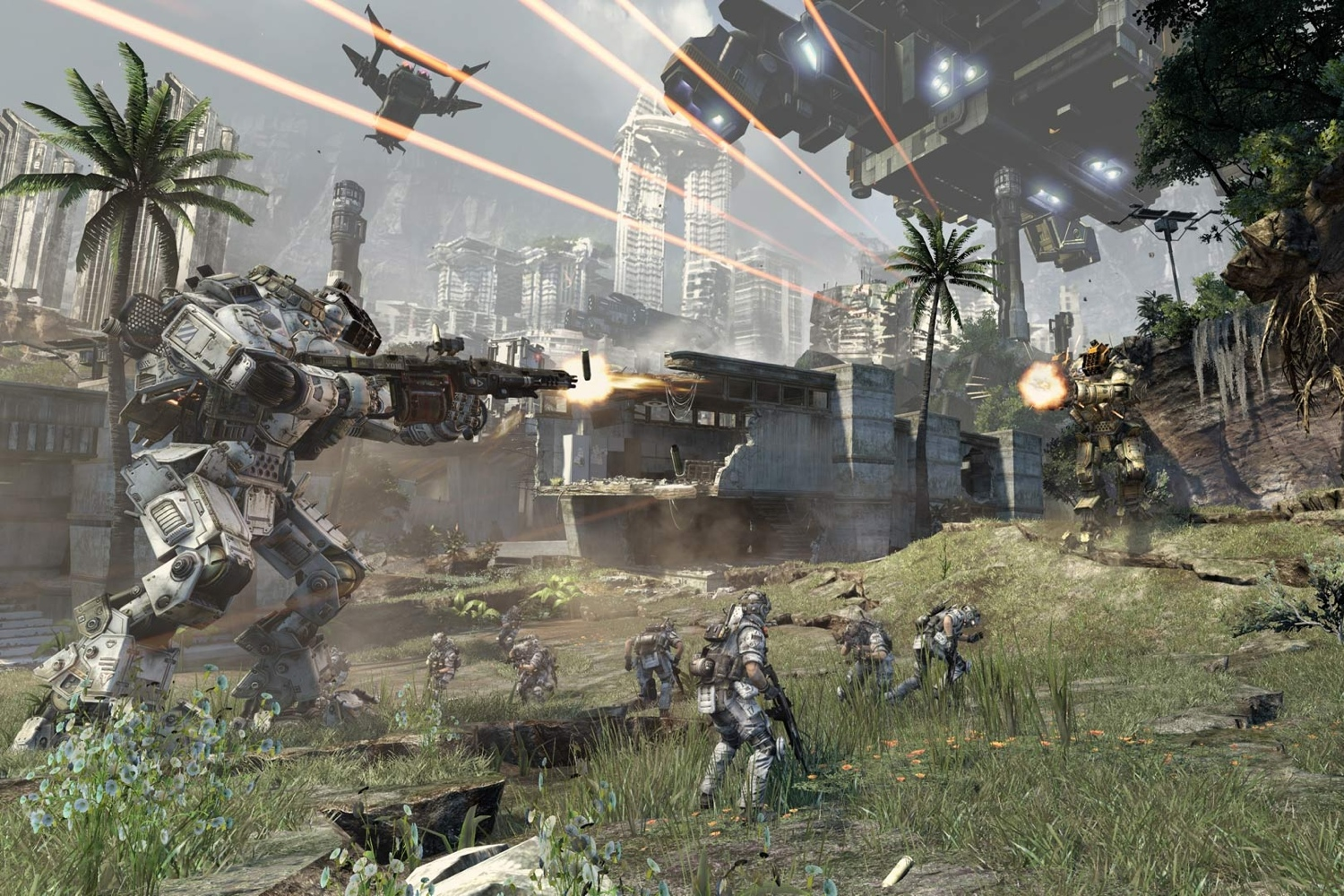 Screenshot from publisher Electronic Arts and developer Respawn Entertainment's massively-multiplayer first-person Xbox One shooter Titanfall (also for Xbox 360 and Windows).