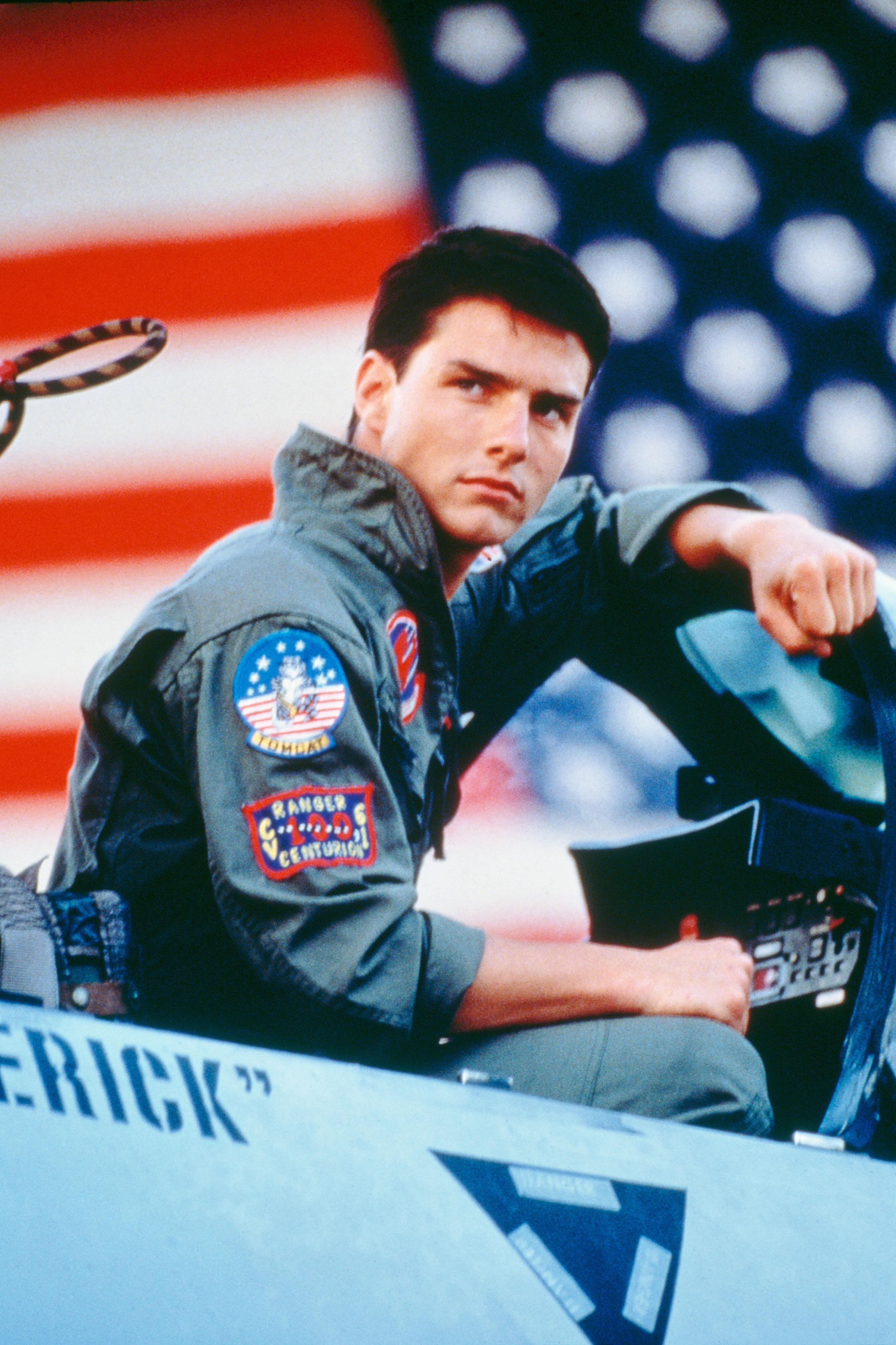Tom Cruise as Lieutenant Pete 'Maverick' Mitchell in 'Top Gun.'