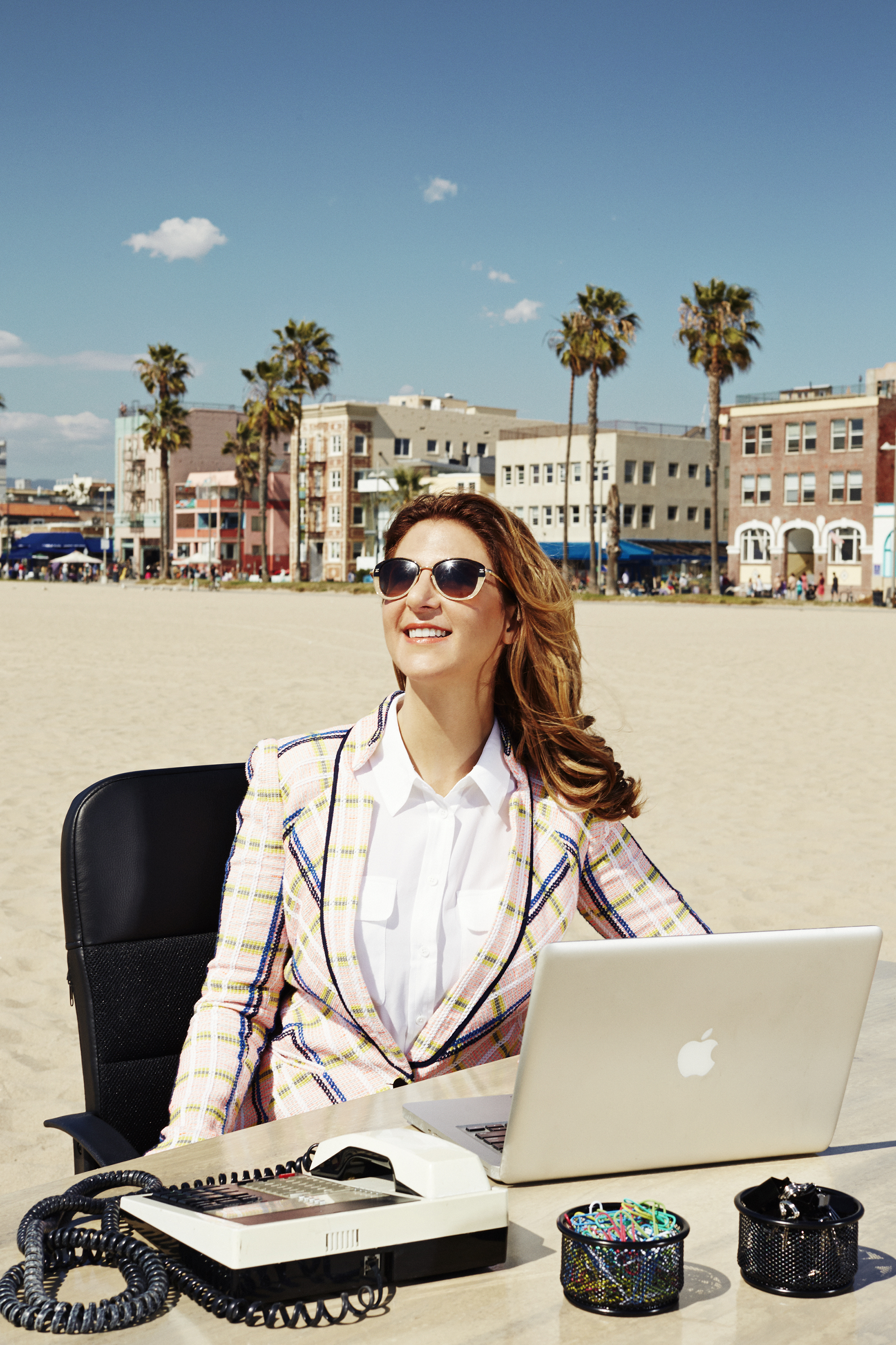 Just add water Silicon Beach entrepreneur Tracy DiNunzio, whose Santa Monica, Calif.–based startup is actually located a few blocks from the sand