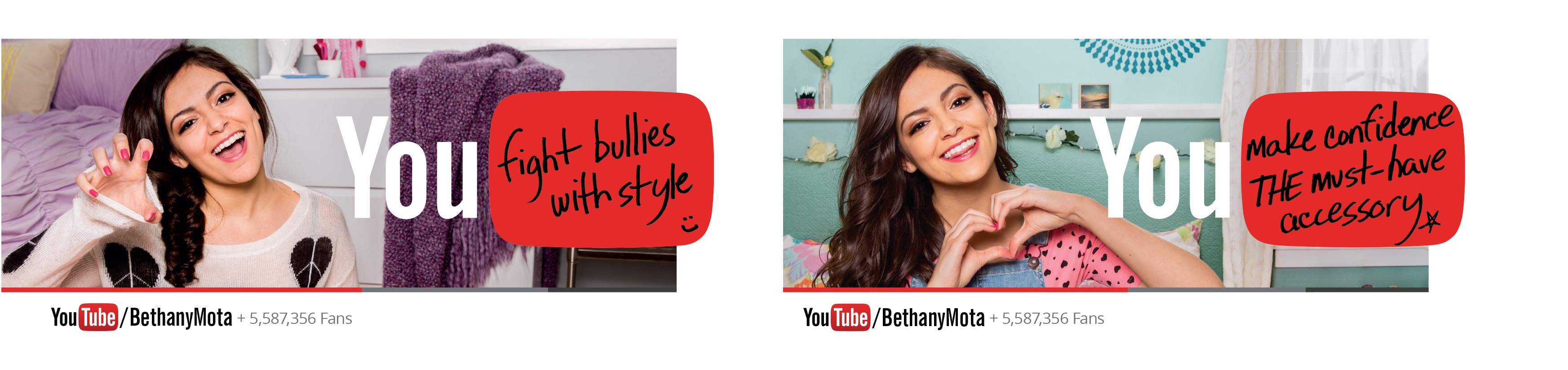 Bethany Mota is one of three YouTube stars being featured in a wide-ranging ad campaign this spring.