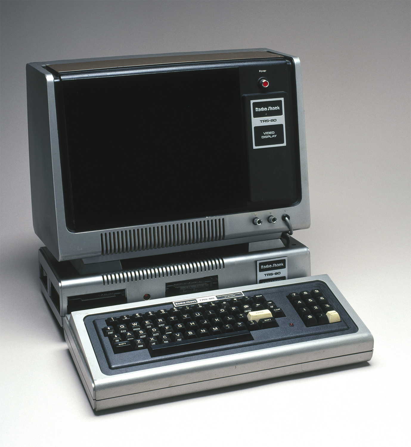 Radio Shack's TRS-80 (1977), one of the first PCs to come with BASIC as standard equipment