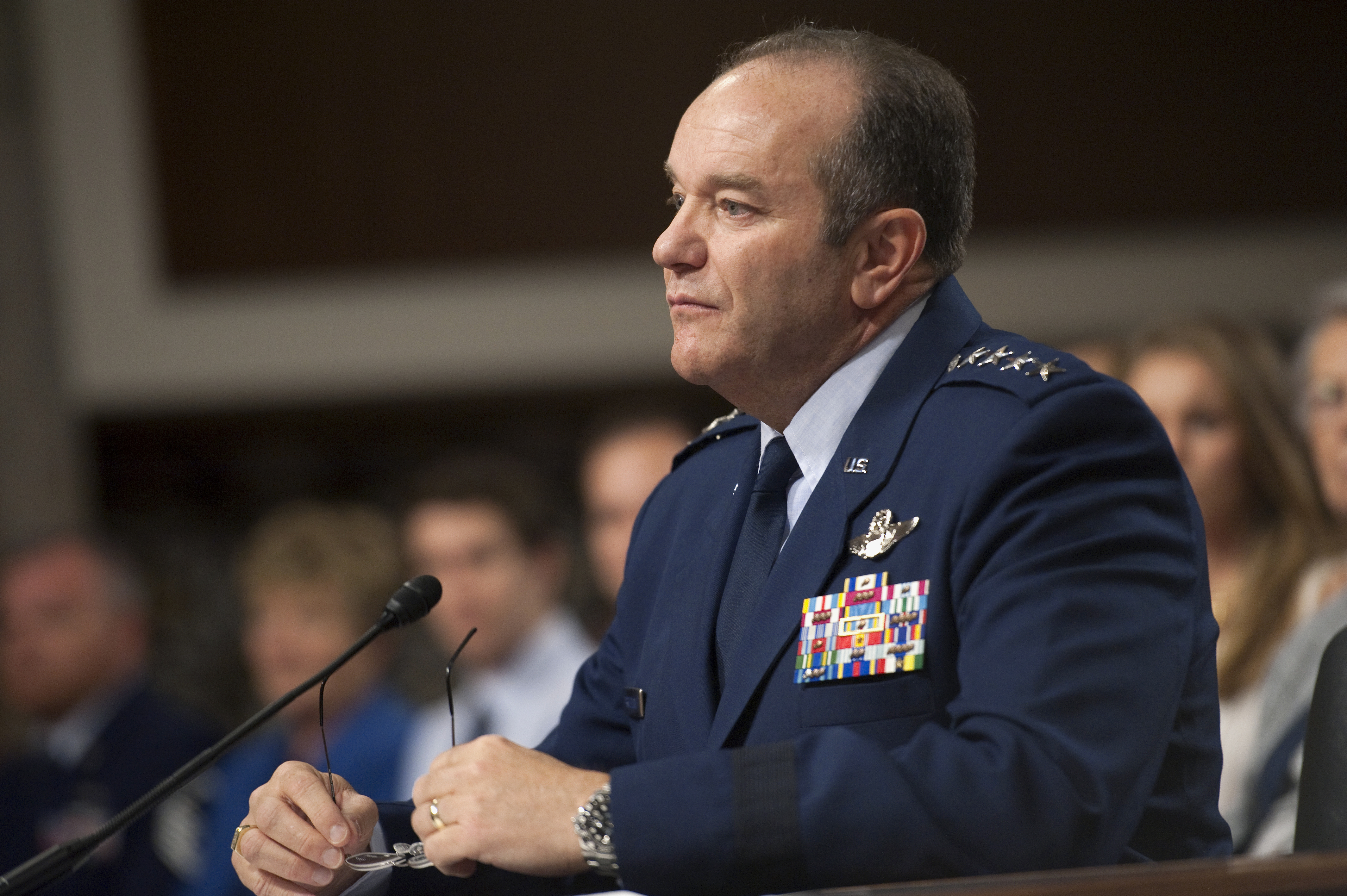 Air Force General Philip Breedlove testifies at a Senate Armed Services Committee hearing on April 11, 2013.